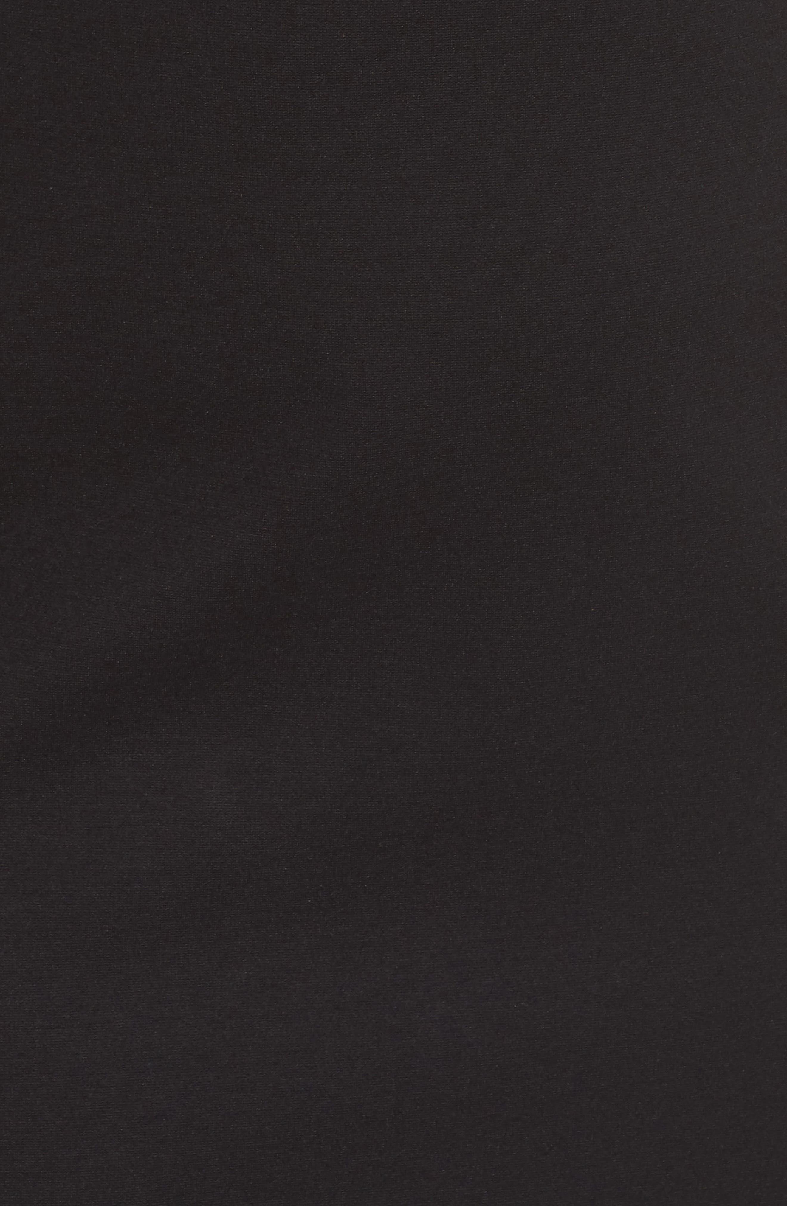 Asymmetrical Neck Sheath Dress,                             Alternate thumbnail 6, color,                             001