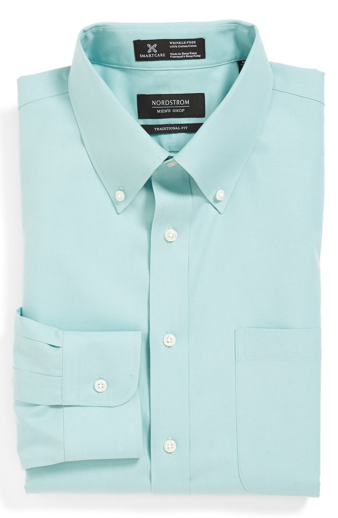 Smartcare<sup>™</sup> Traditional Fit Pinpoint Dress Shirt,                             Main thumbnail 14, color,