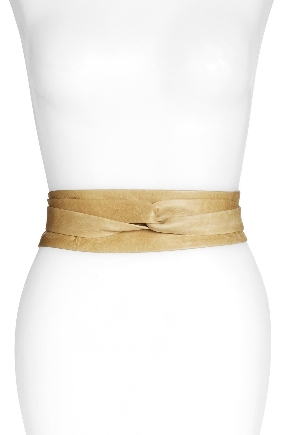 ADA,                             'Obi' Leather Wrap Belt,                             Main thumbnail 1, color,                             200