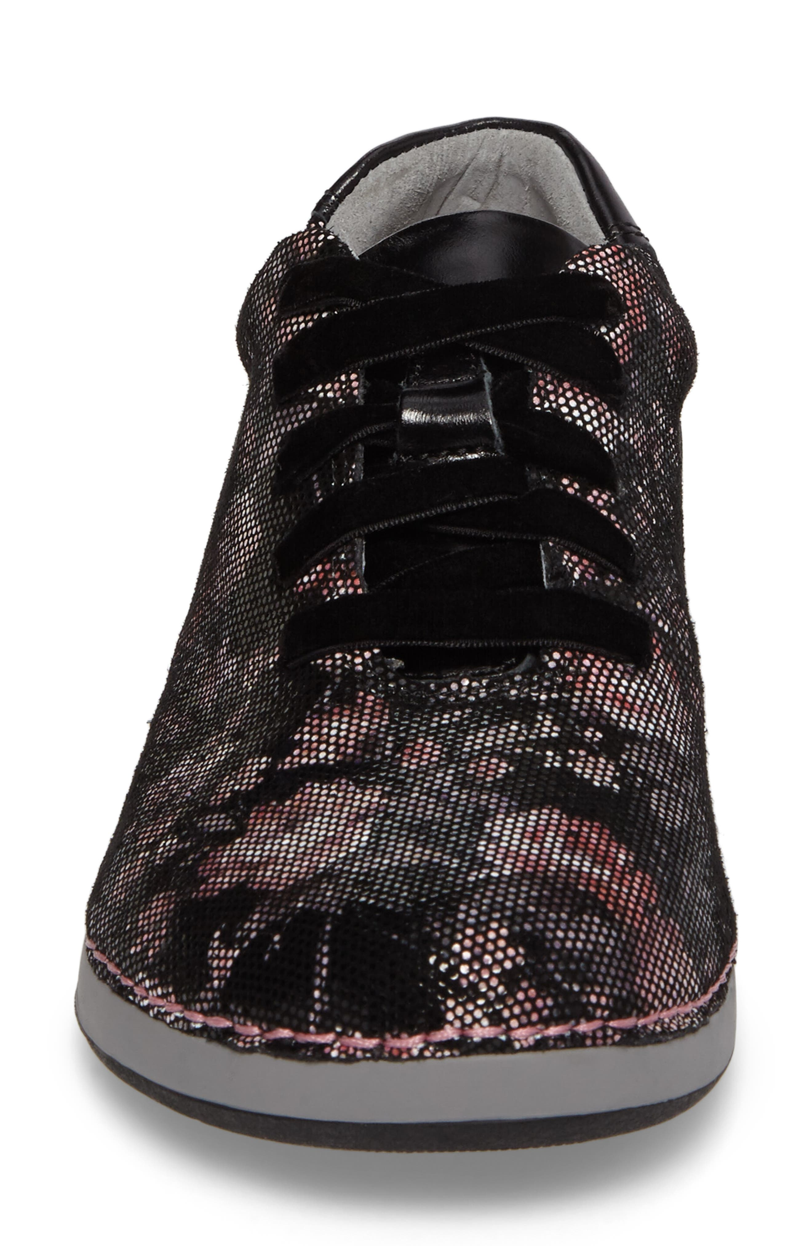 Essence Lace-Up Leather Oxford,                             Alternate thumbnail 4, color,                             001
