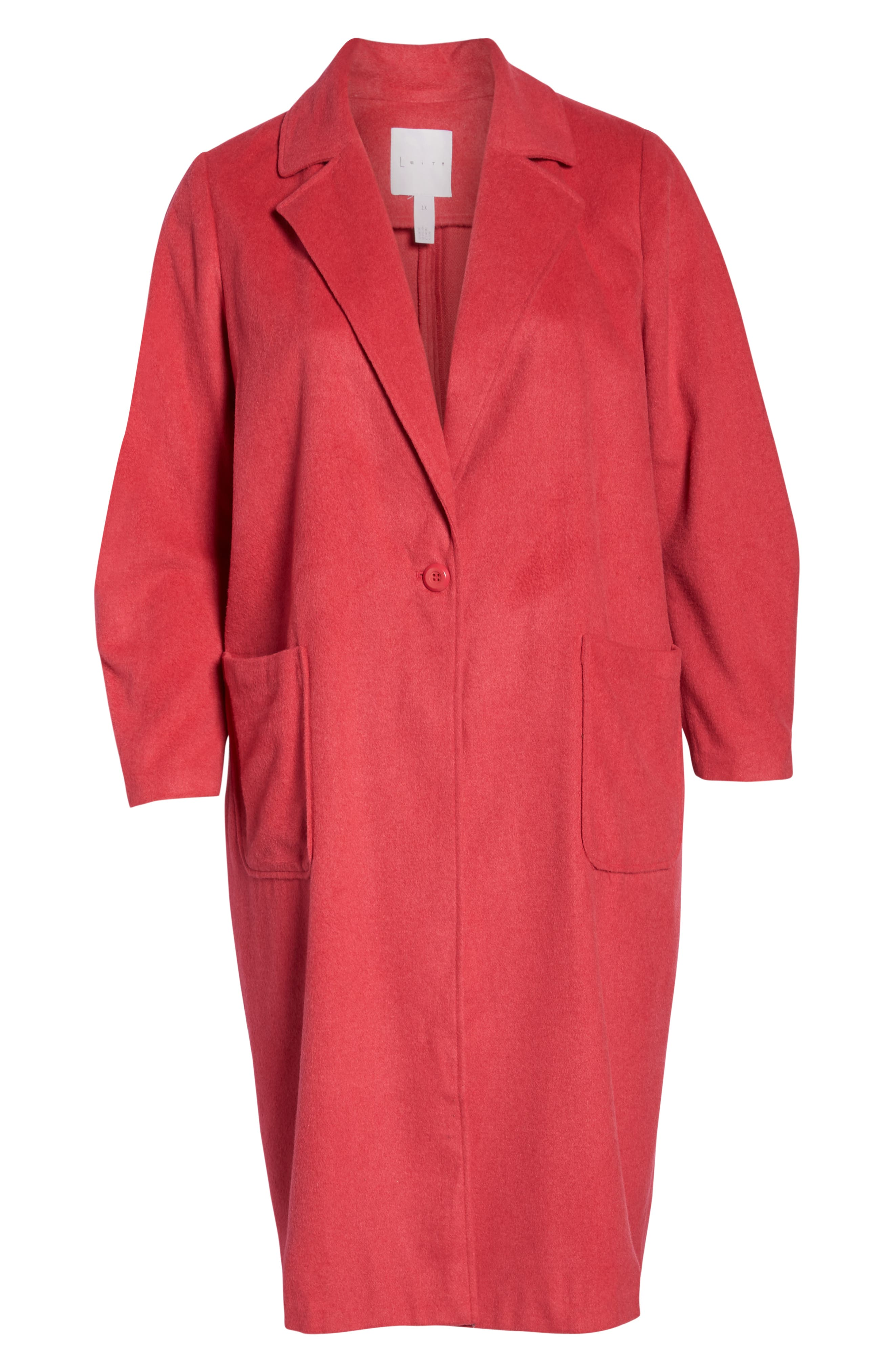 Single Button Long Jacket,                             Alternate thumbnail 6, color,                             PINK TEABERRY