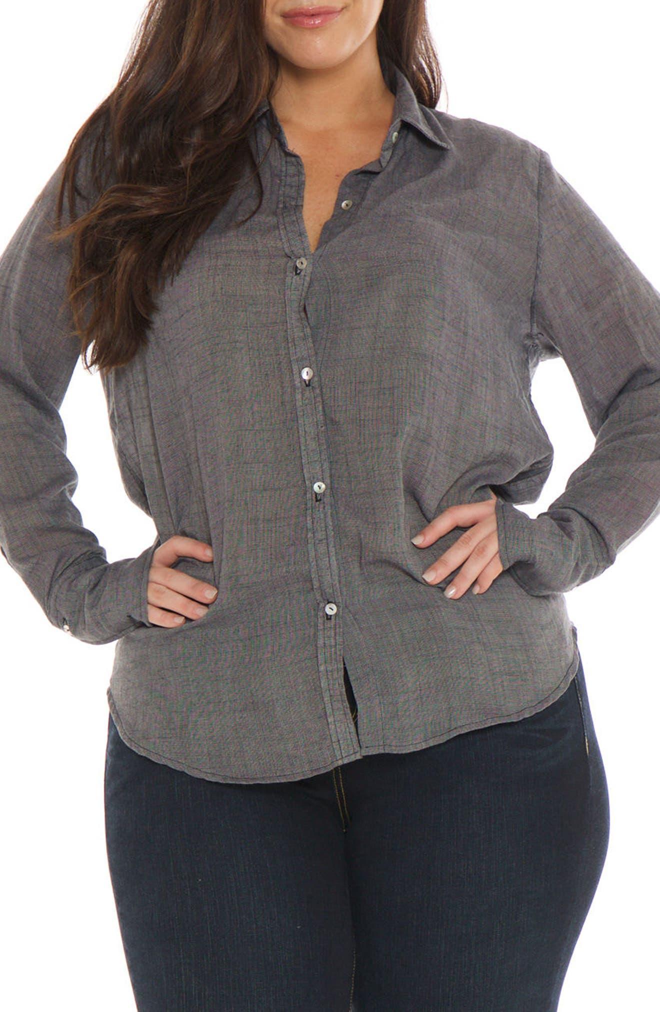 Crinkle Woven Shirt,                             Main thumbnail 1, color,                             001