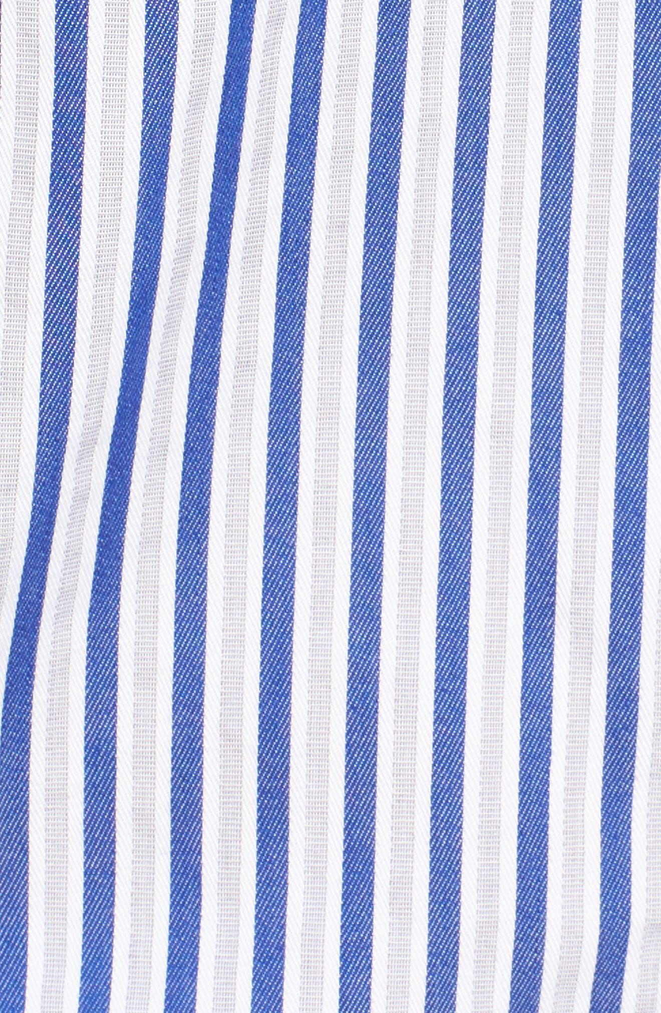 Luz Stripe Bell Cuff Shirt,                             Alternate thumbnail 5, color,                             494