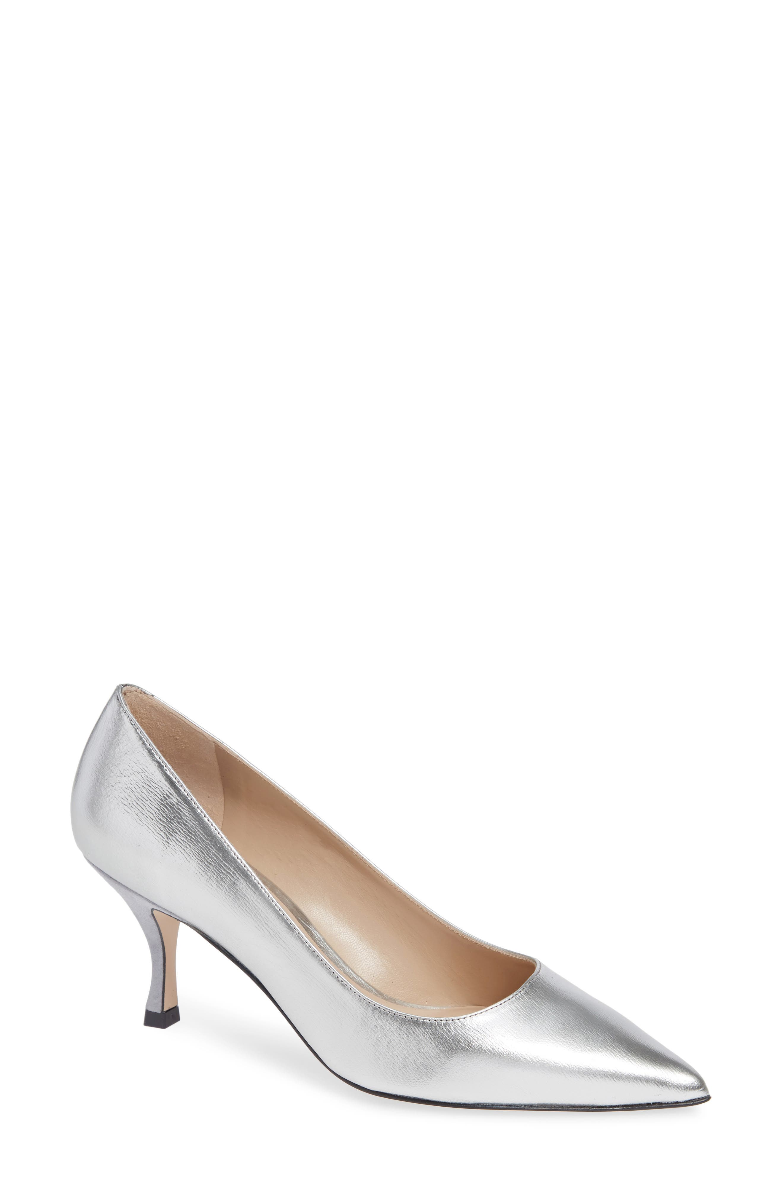 Tippi 70 Pointy Toe Pump,                             Main thumbnail 1, color,                             SILVER VENICE