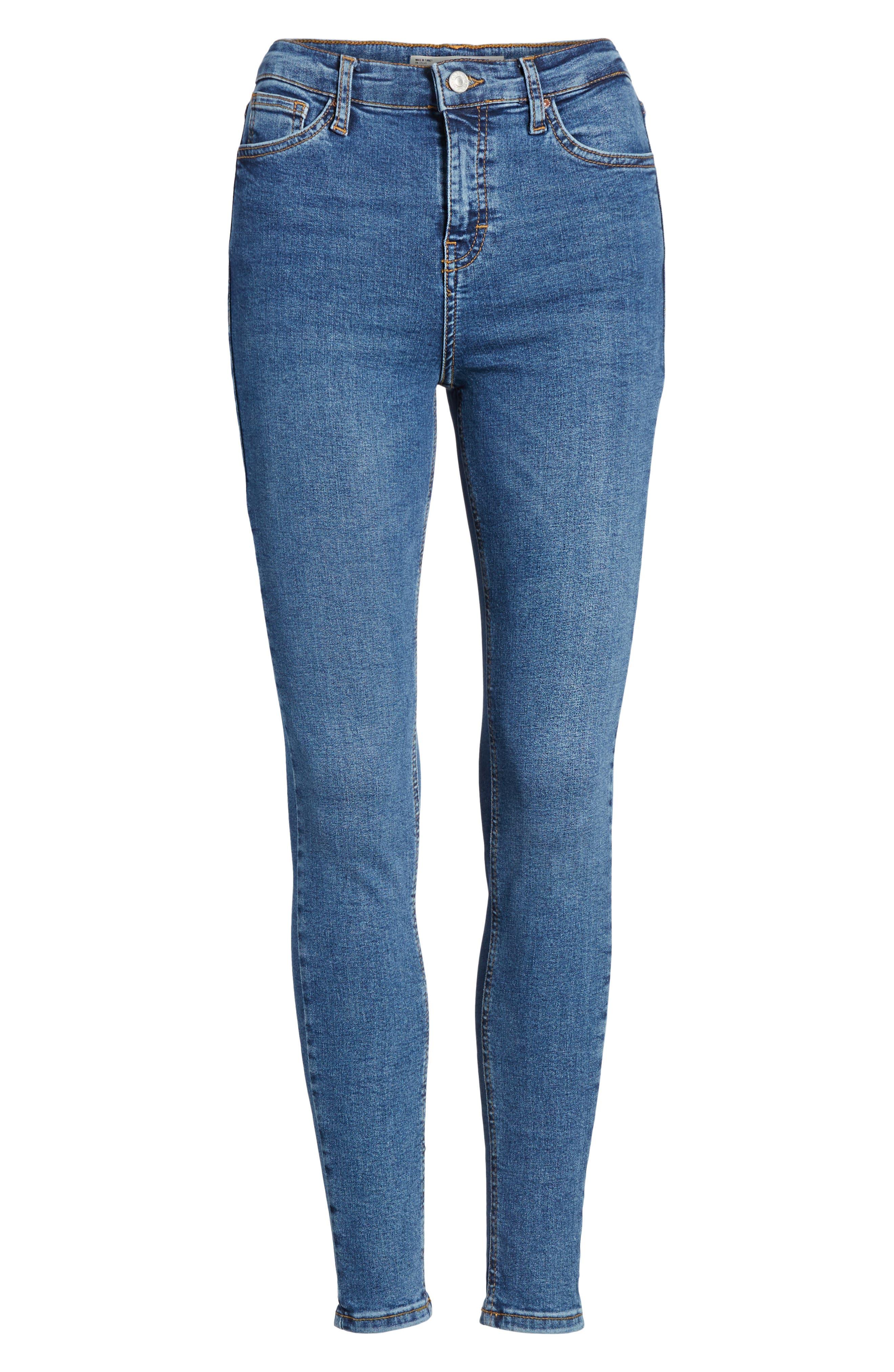 Jamie Indigo High Waist Skinny Jeans,                             Alternate thumbnail 7, color,                             401