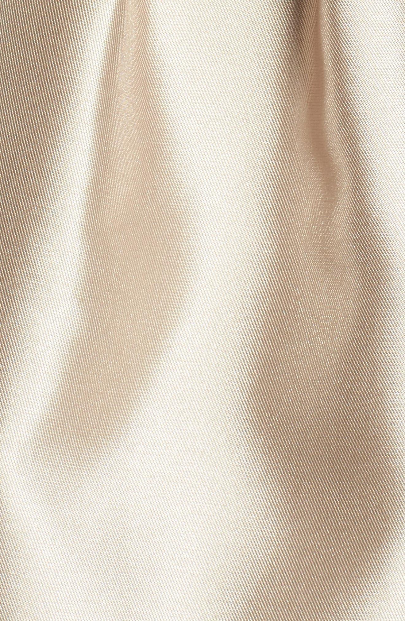 Beaded Neck Mikado Ballgown with Shawl,                             Alternate thumbnail 5, color,
