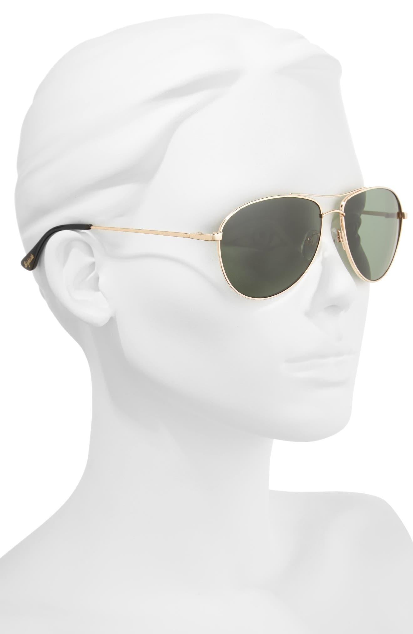 Orville 58mm Polarized Aviator Sunglasses,                             Alternate thumbnail 4, color,
