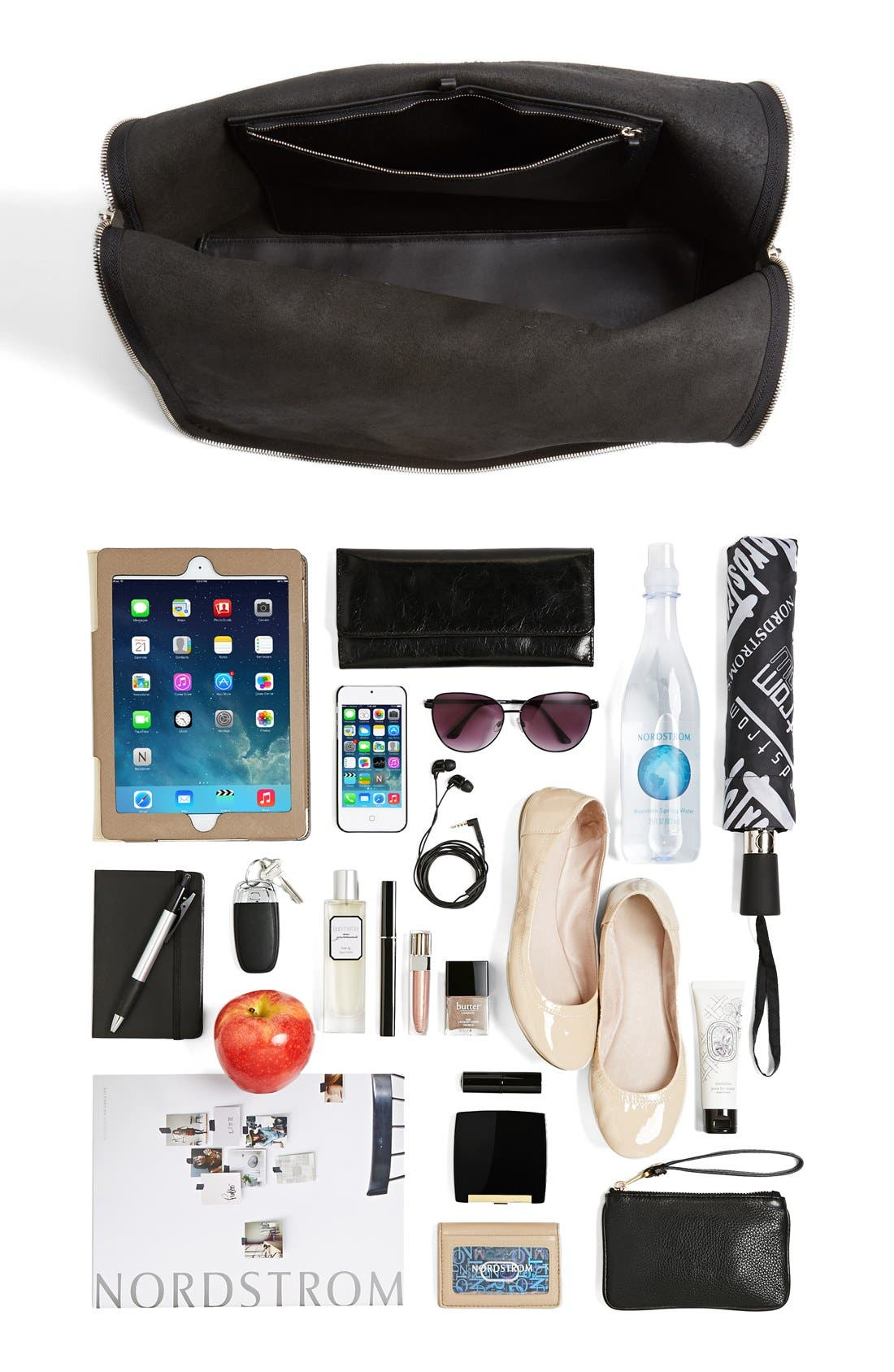 '31 Hour' Leather Tote,                             Alternate thumbnail 2, color,                             001