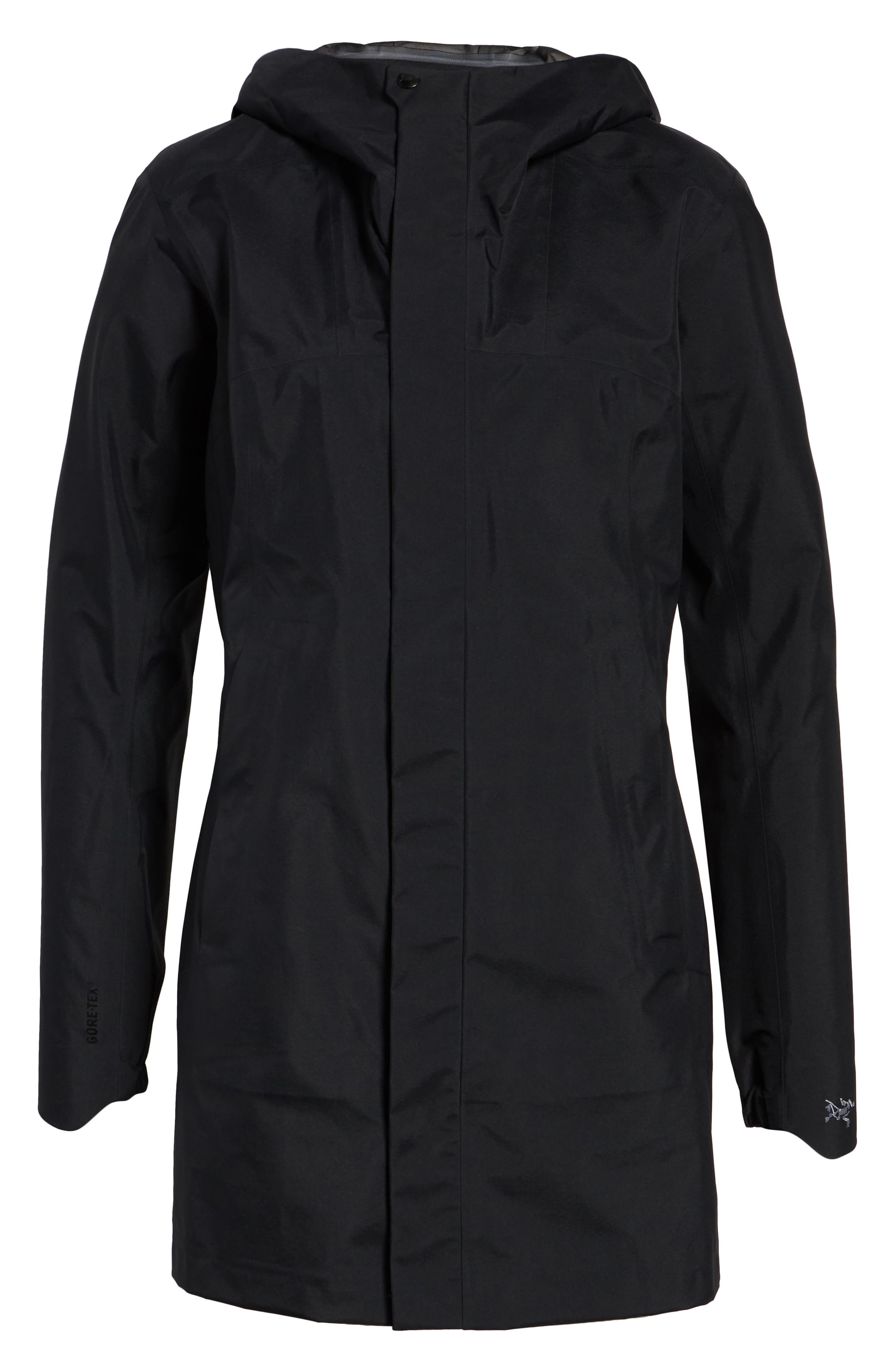 'Codetta' Waterproof Relaxed Fit Gore-Tex<sup>®</sup> 3L Rain Jacket,                             Alternate thumbnail 5, color,                             001