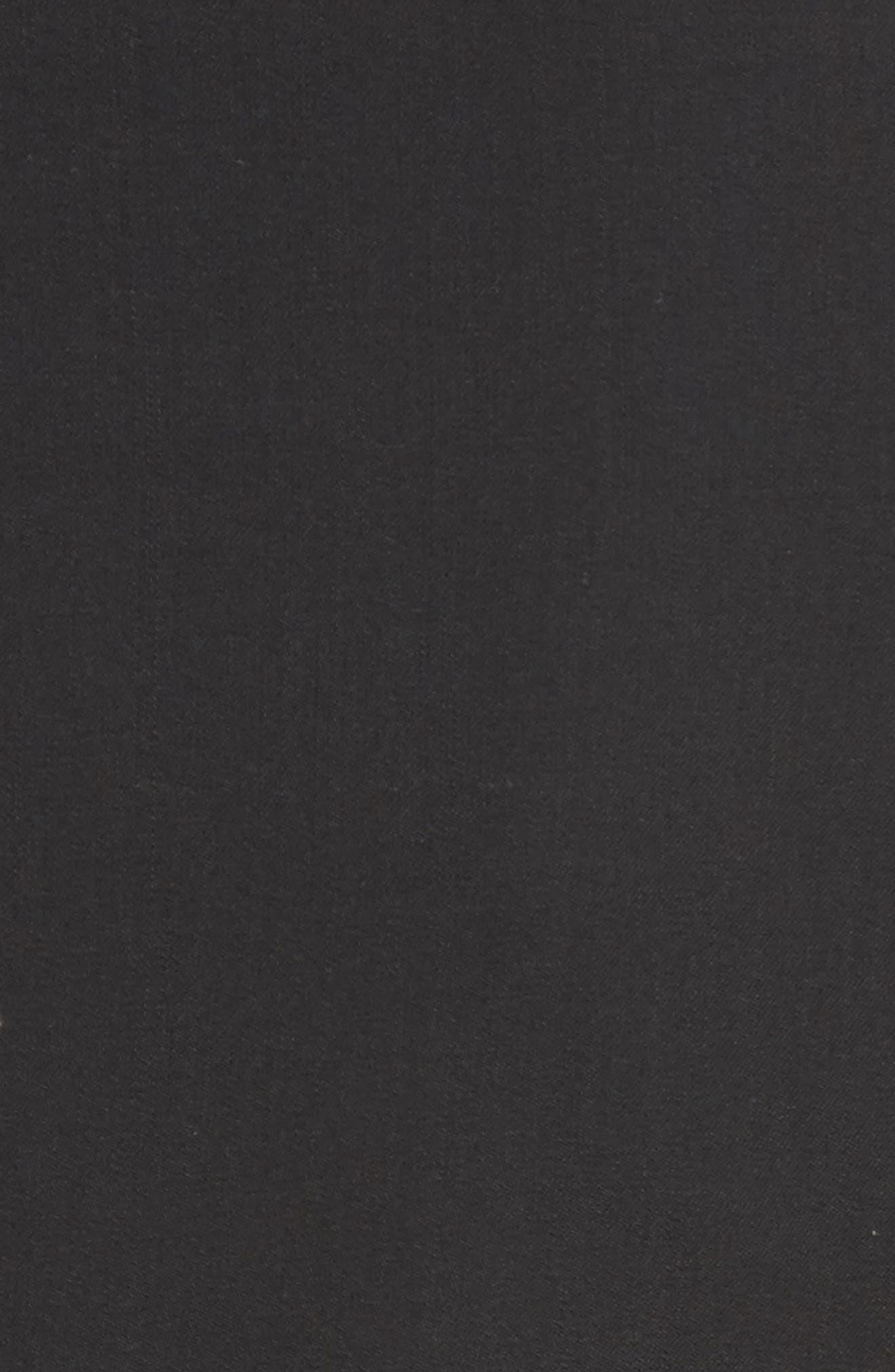 Long One-Button Jacket,                             Alternate thumbnail 7, color,                             BLACK