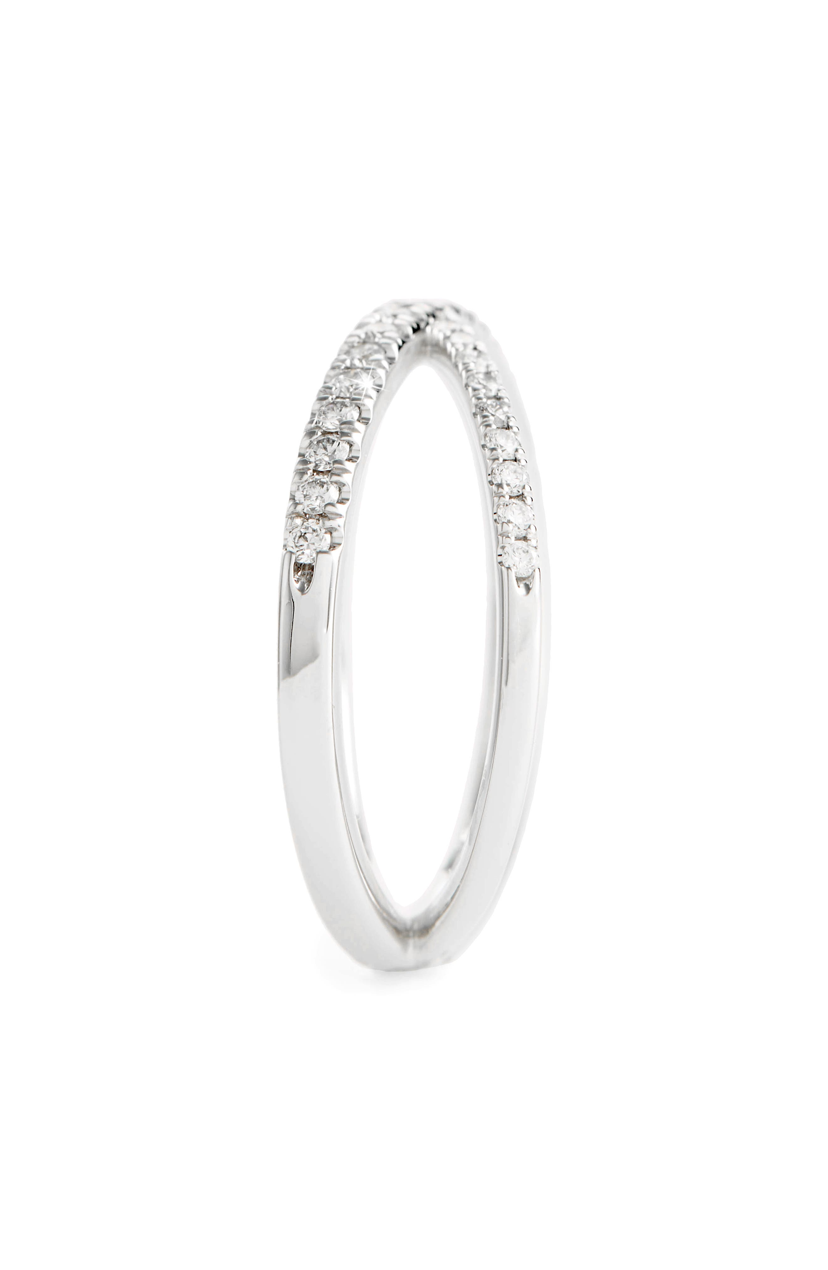 Diamond Crisscross Ring,                             Alternate thumbnail 2, color,                             WHITE GOLD