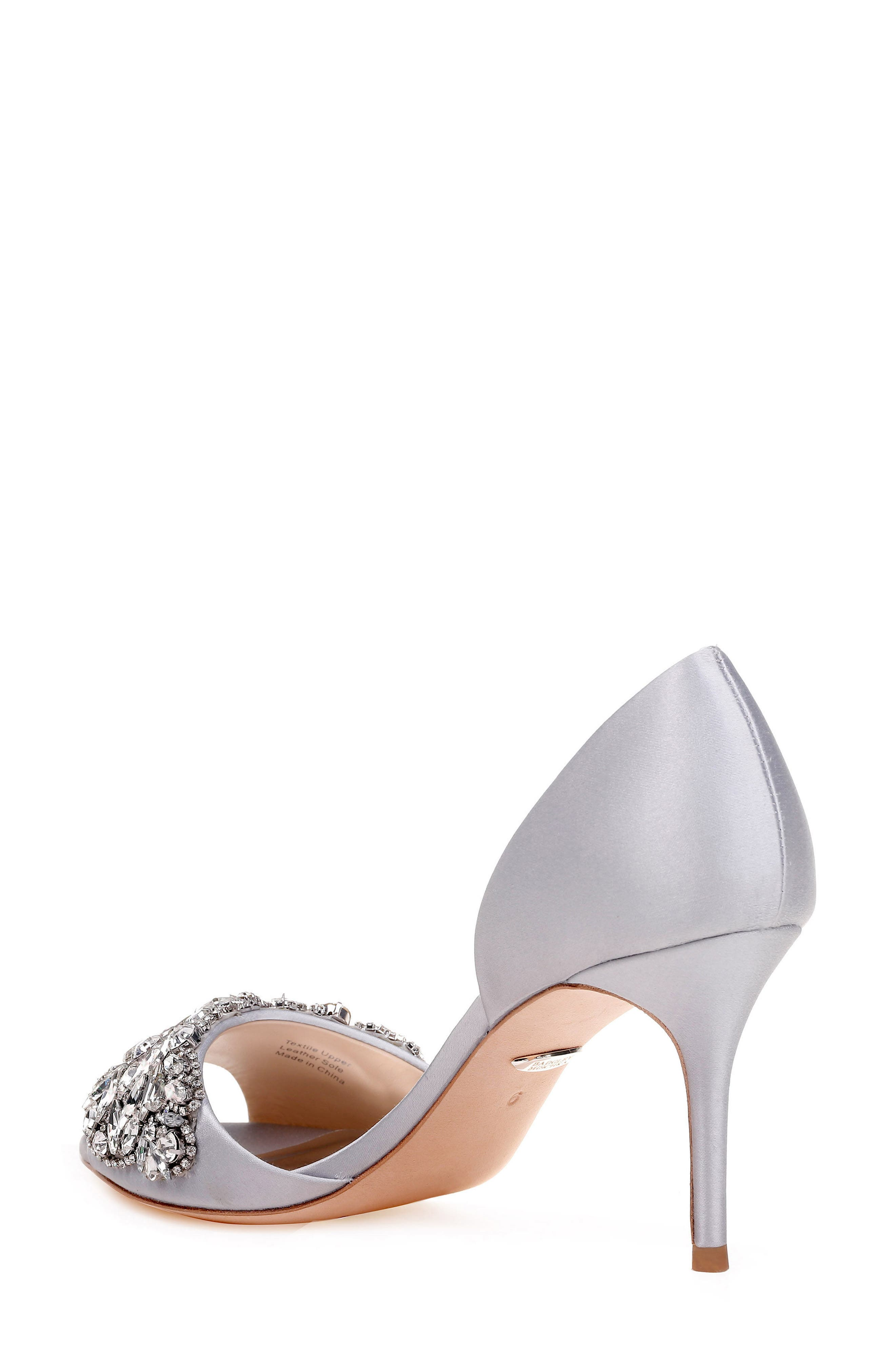 Hansen Crystal Embellished Sandal,                             Alternate thumbnail 2, color,                             SILVER SATIN