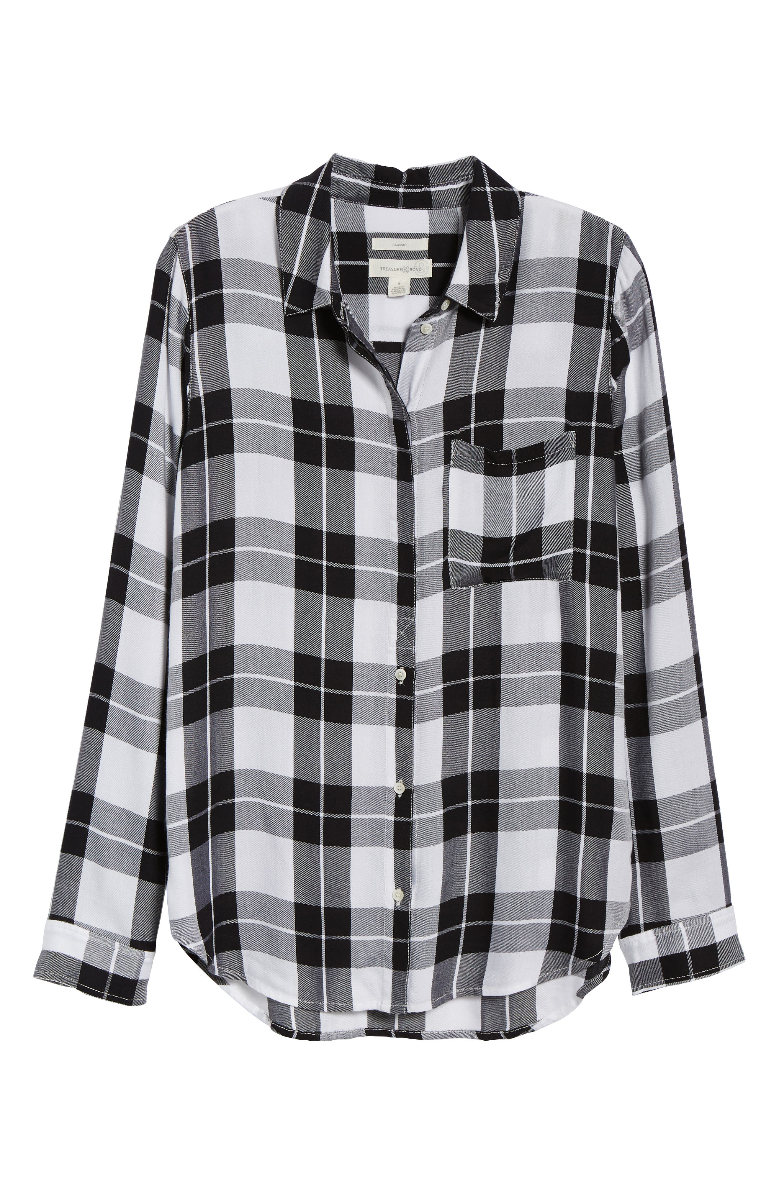 Classic Plaid Shirt,                             Alternate thumbnail 6, color,                             001