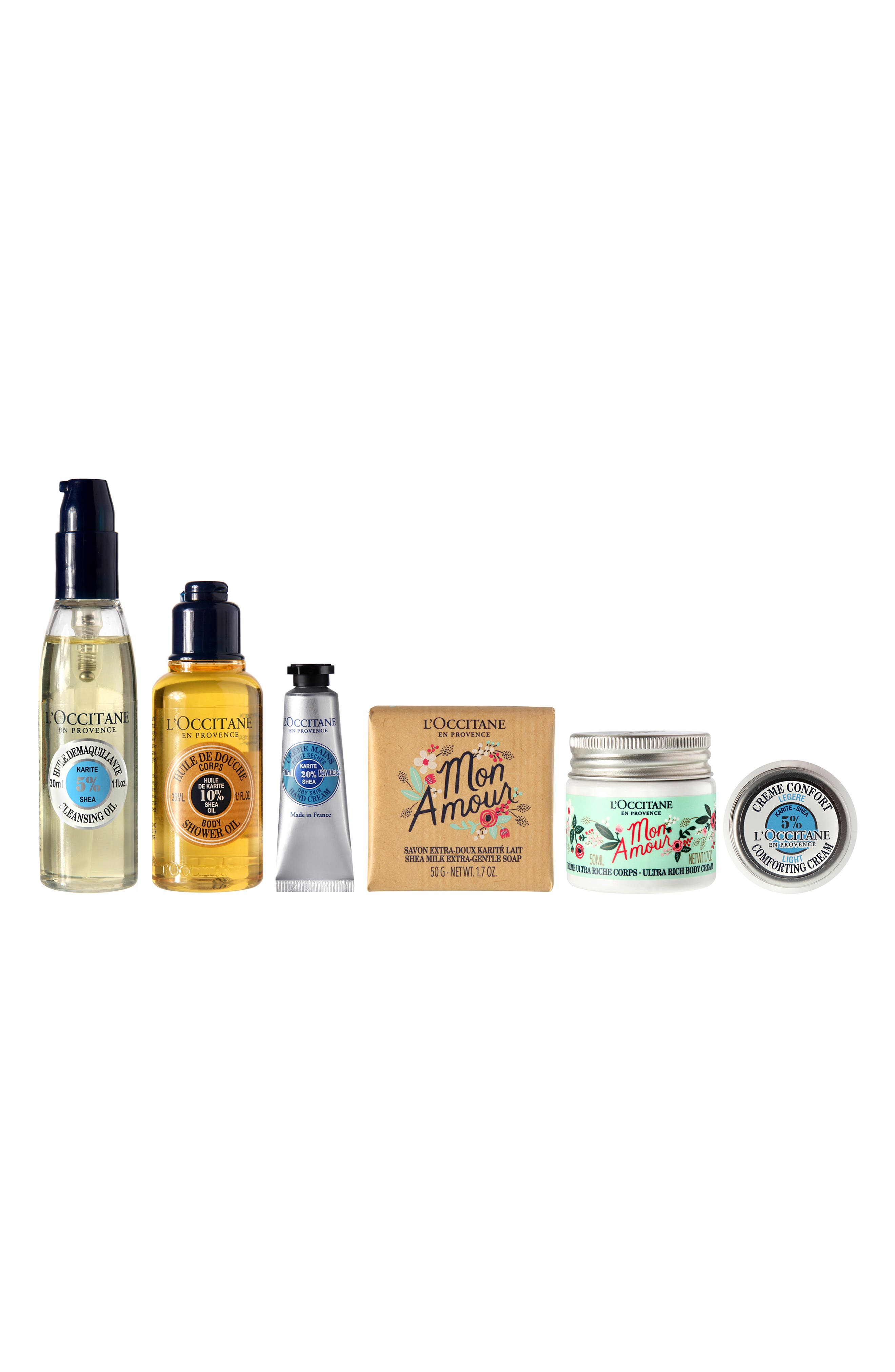 L'OCCITANE x Rifle Paper Co. Shea Butter Discovery Kit, Main, color, NO COLOR