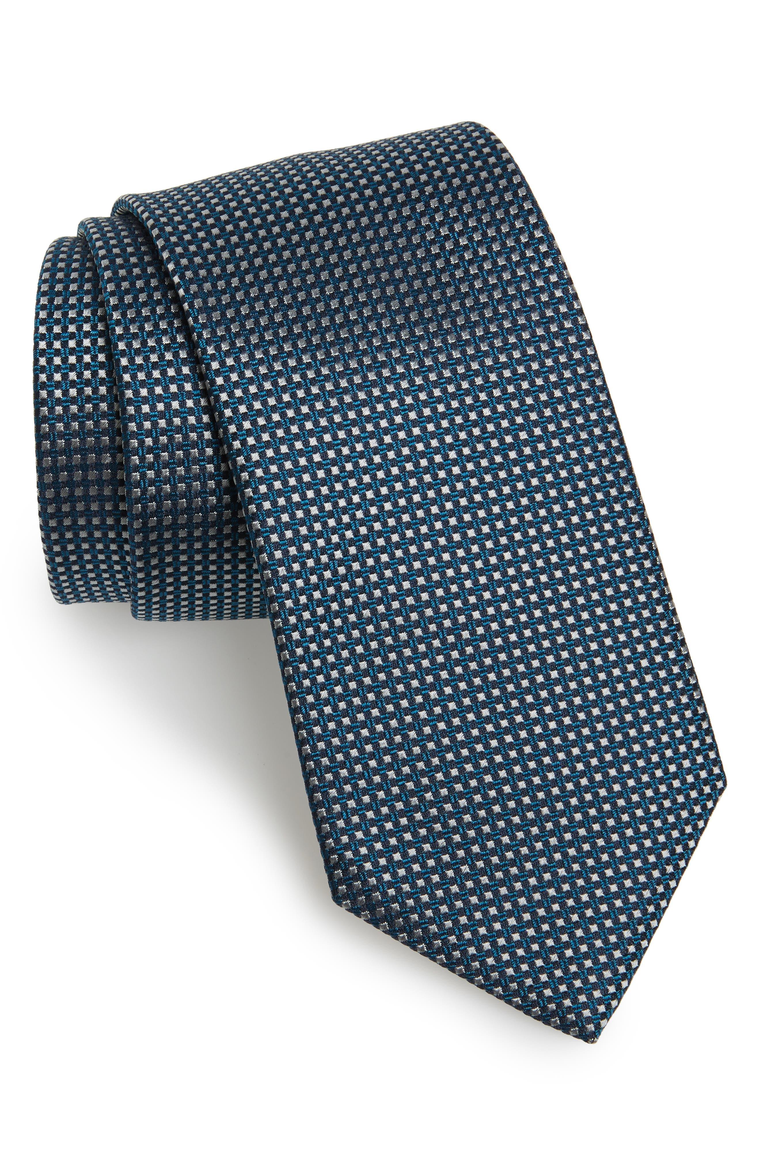 Geometric Silk Tie,                         Main,                         color, 444