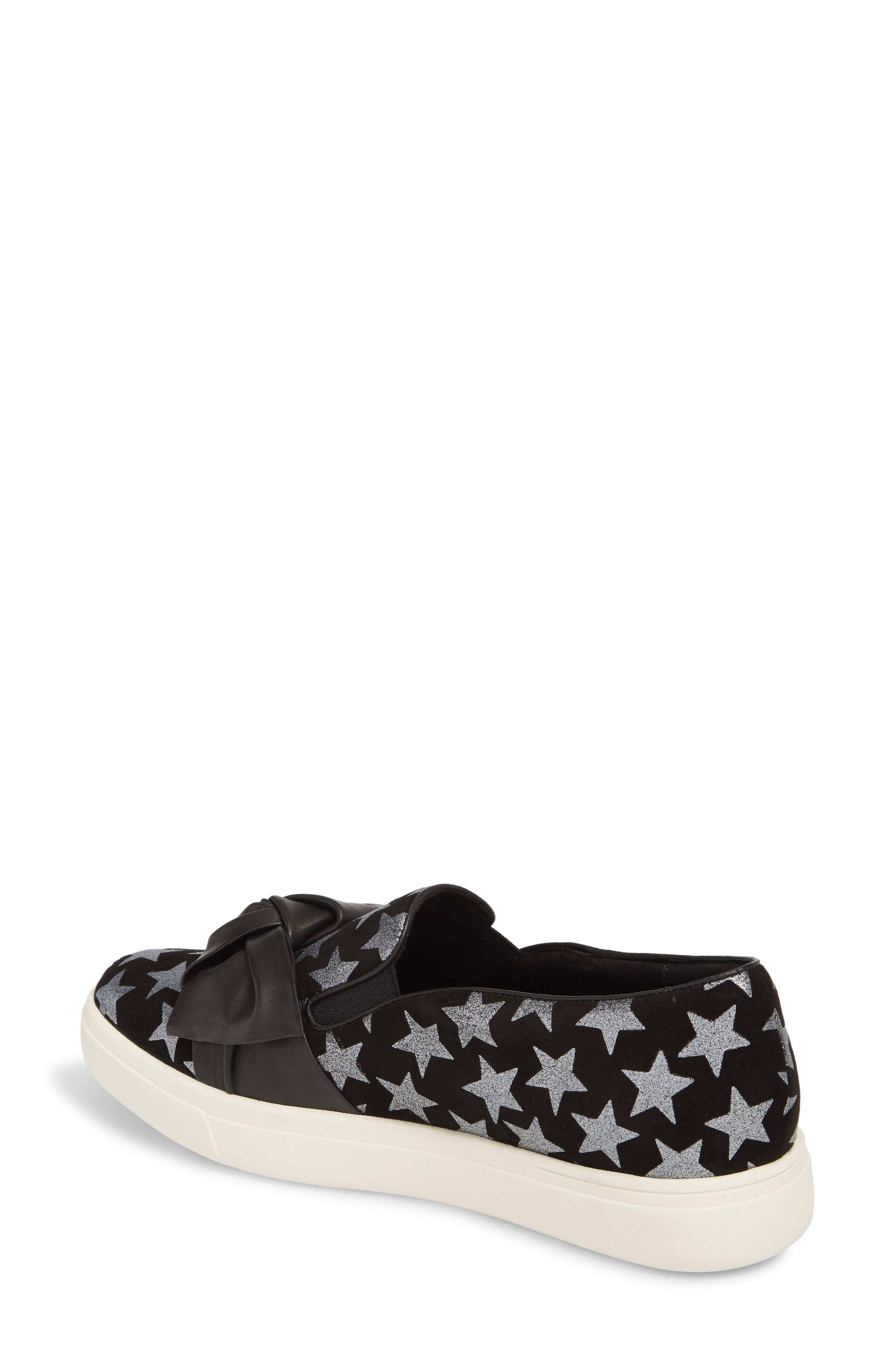 Odelet Slip-On Sneaker,                             Alternate thumbnail 2, color,                             BLACK/ PEWTER SUEDE