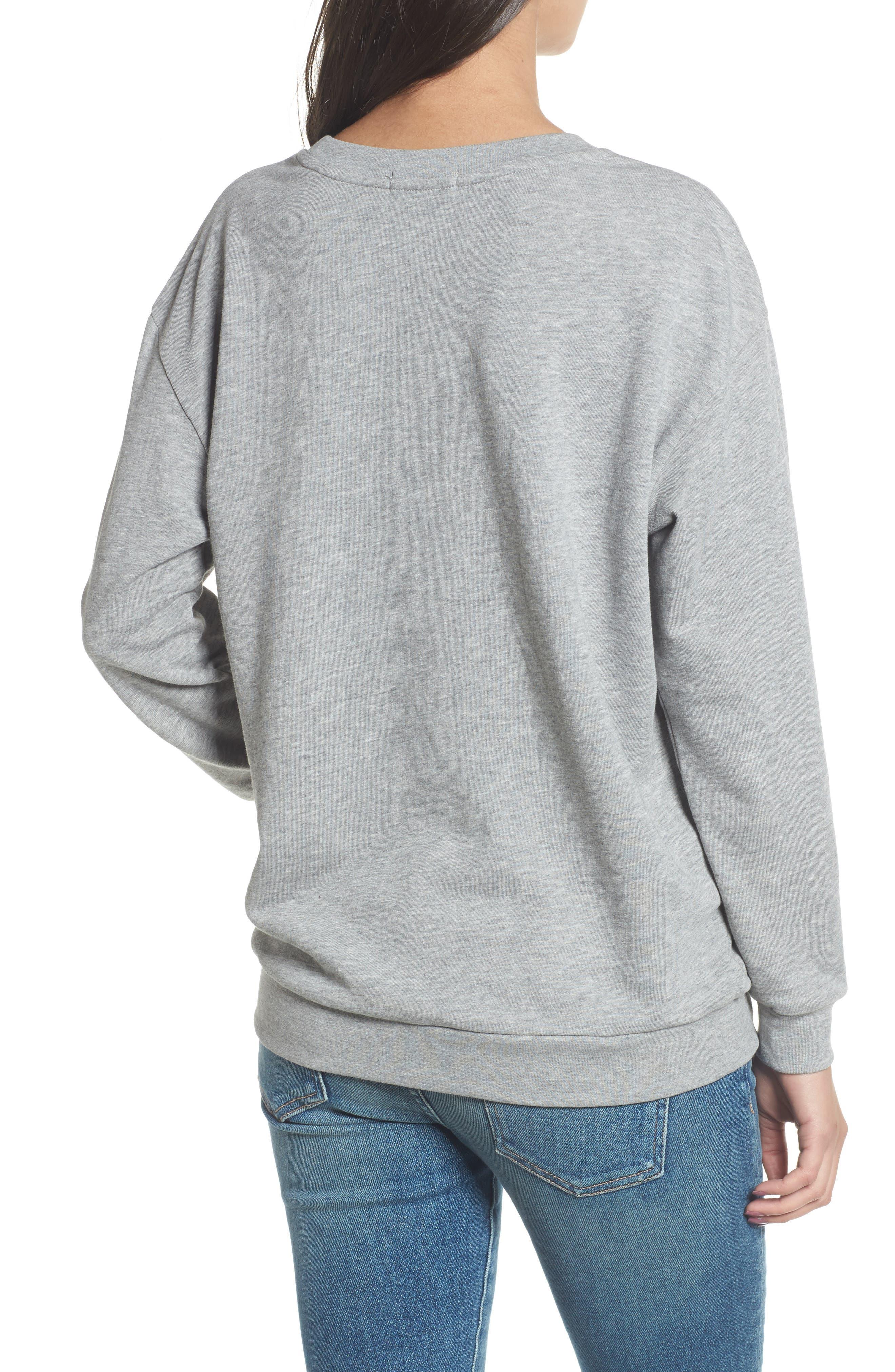 Alexa - Super Stars Sweatshirt,                             Alternate thumbnail 2, color,                             GREY