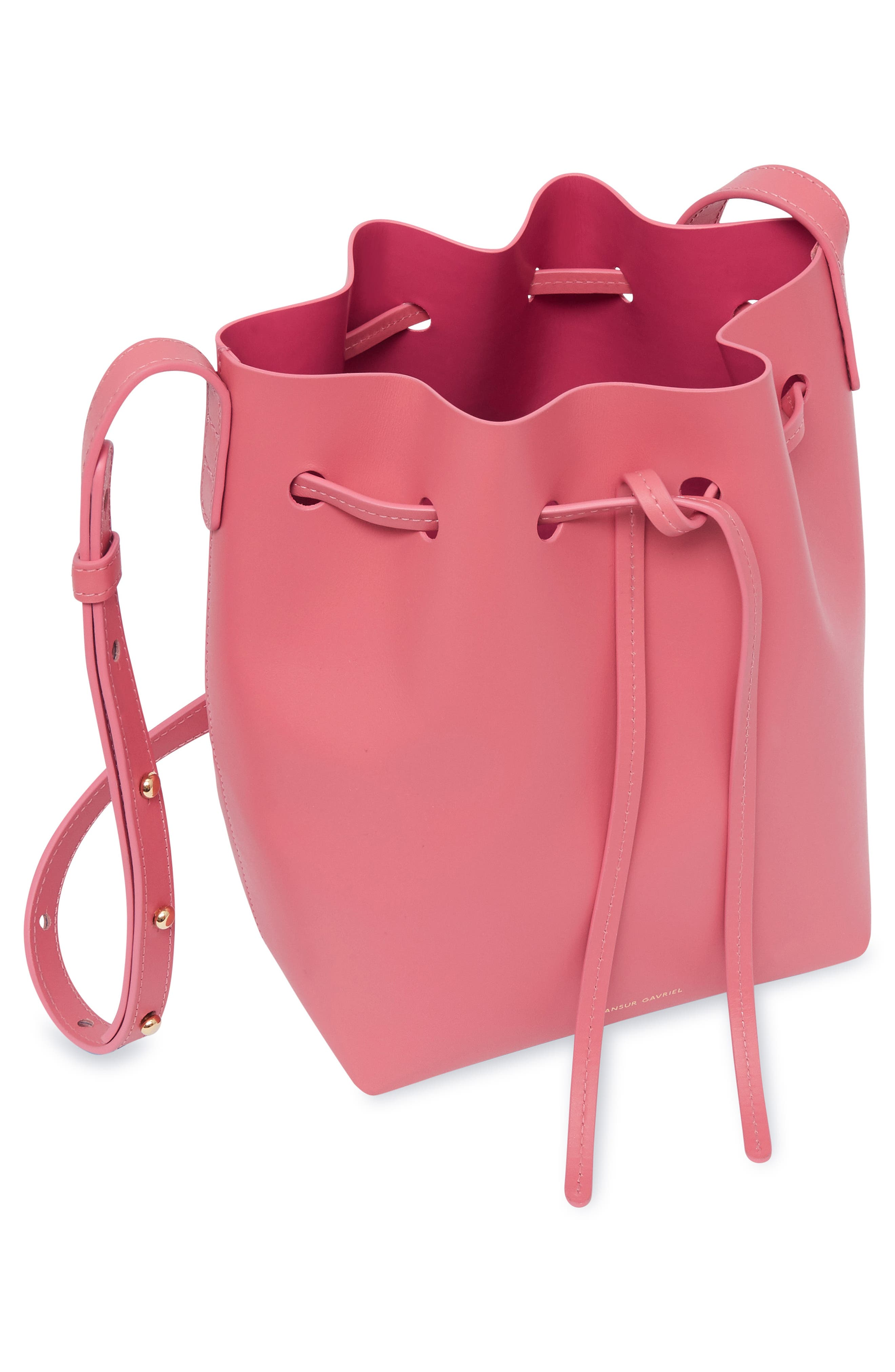 Mini Leather Bucket Bag,                             Alternate thumbnail 2, color,                             DOLLY