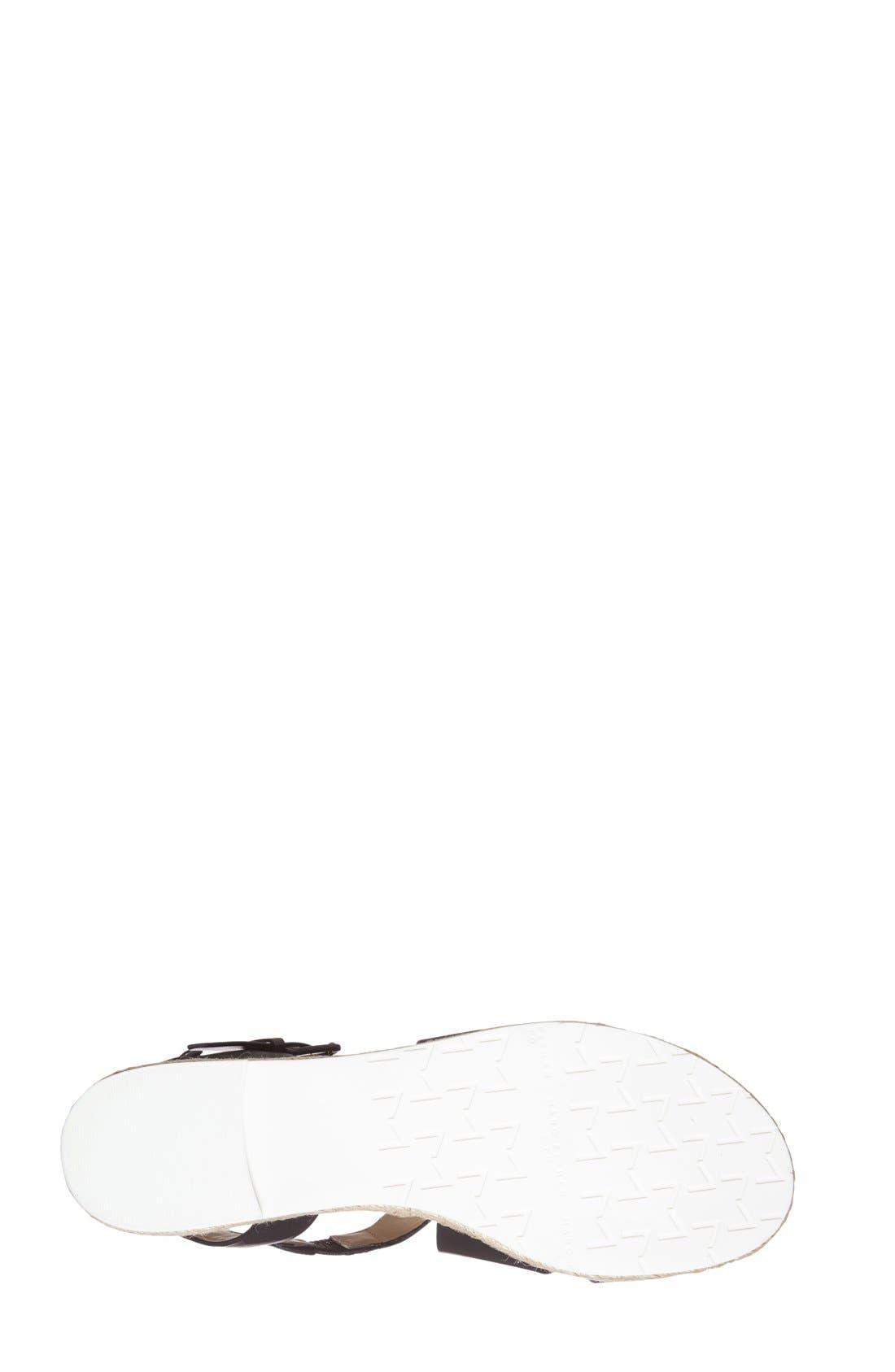 MARC FISHER LTD,                             'Alysse' Flat Sandal,                             Alternate thumbnail 3, color,                             001