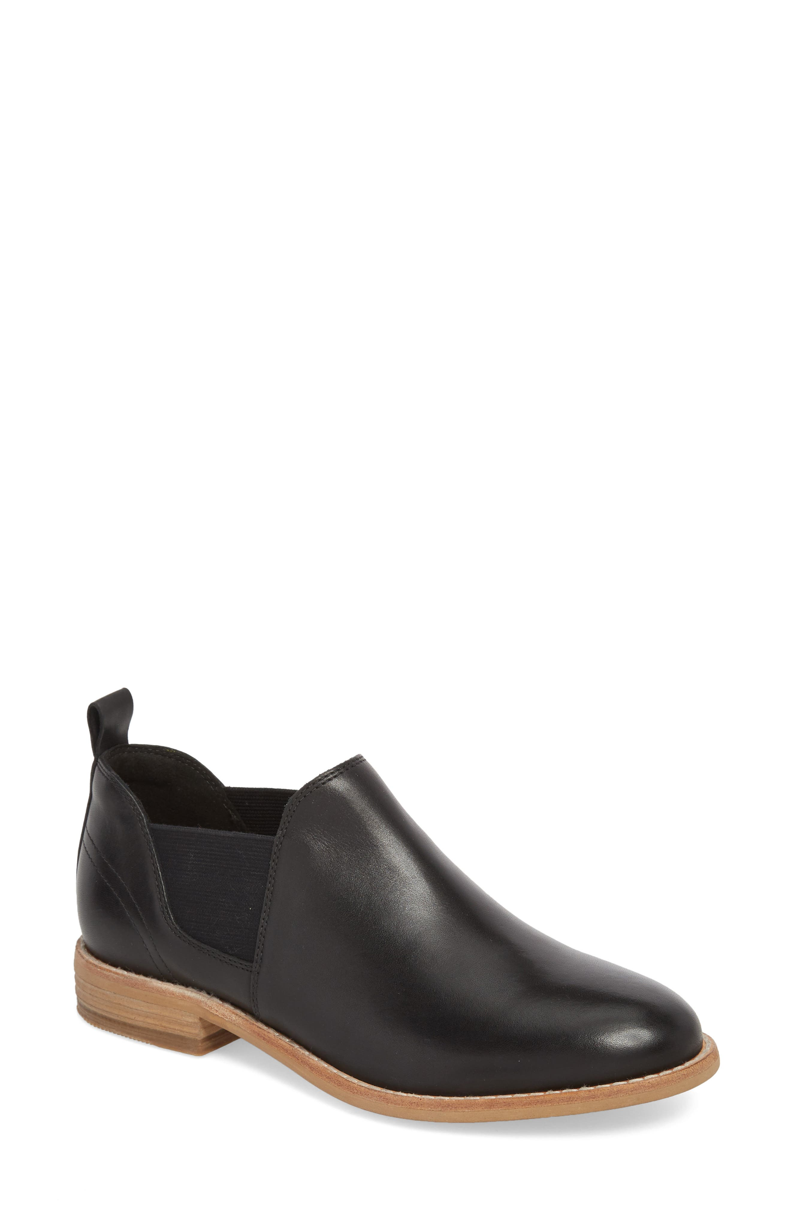 Edenvale Page Bootie,                         Main,                         color, BLACK LEATHER