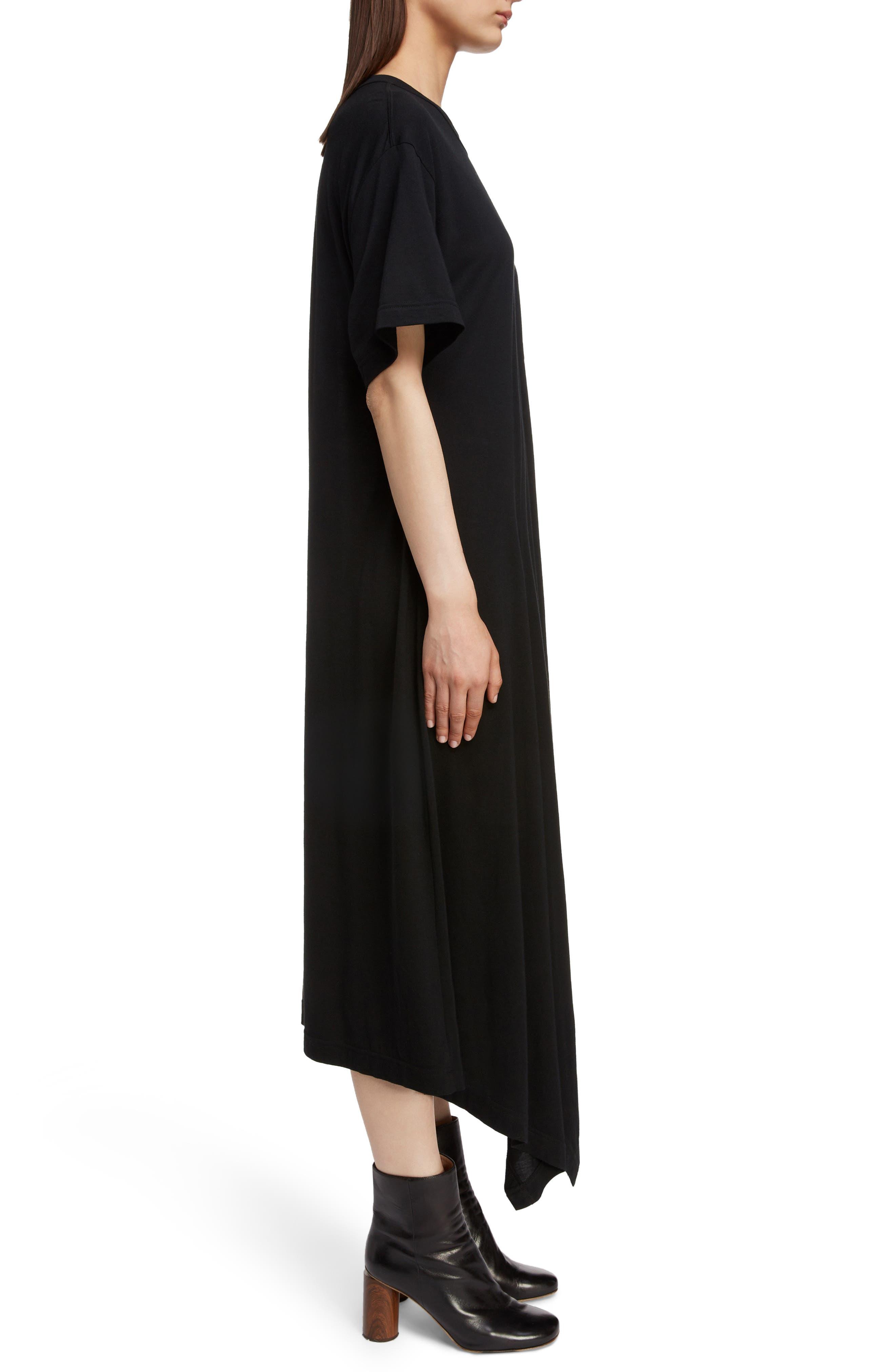 T-Shirt Dress,                             Alternate thumbnail 3, color,                             BLACK
