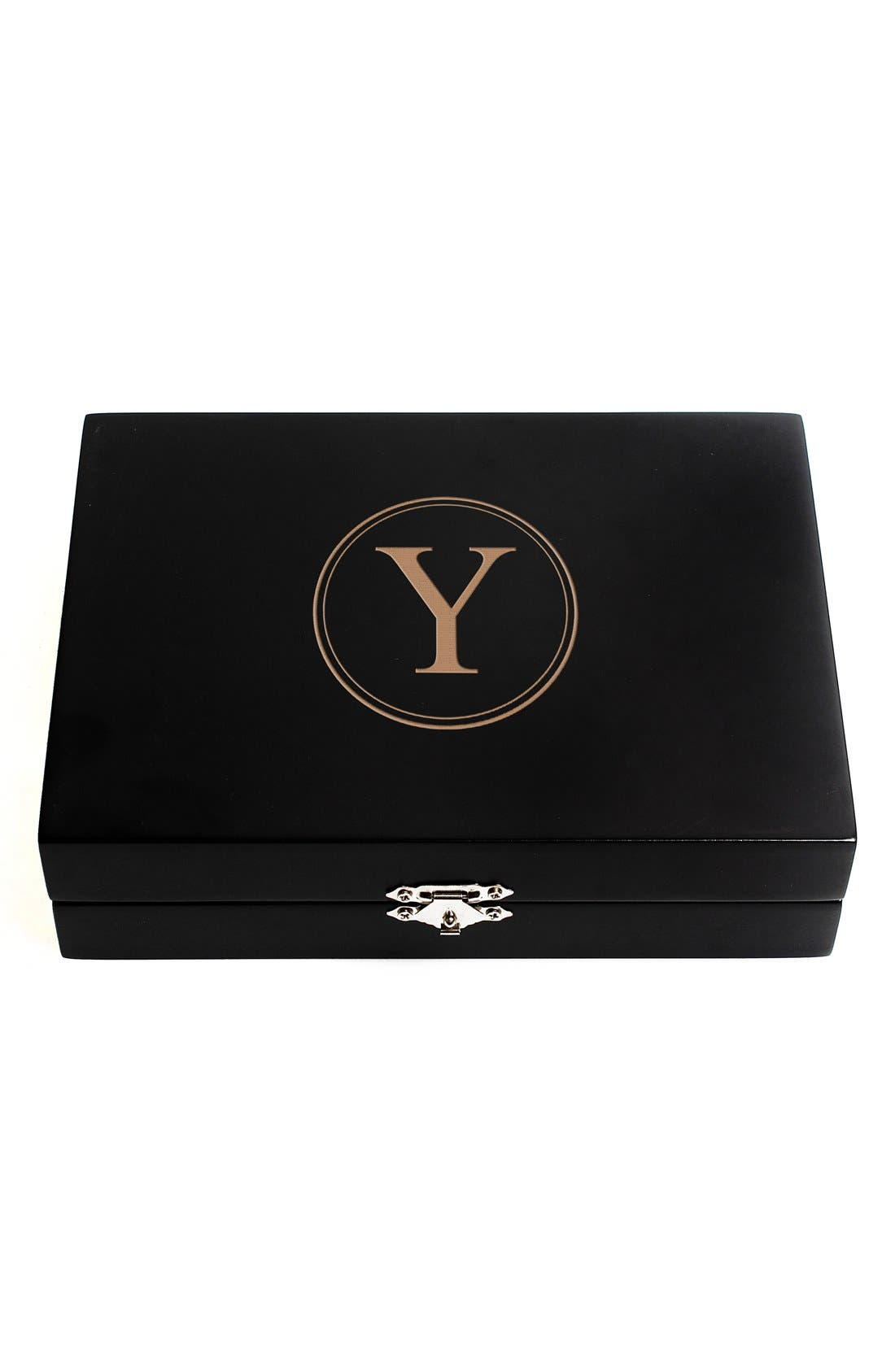Monogram Wooden Jewelry Box,                             Main thumbnail 27, color,