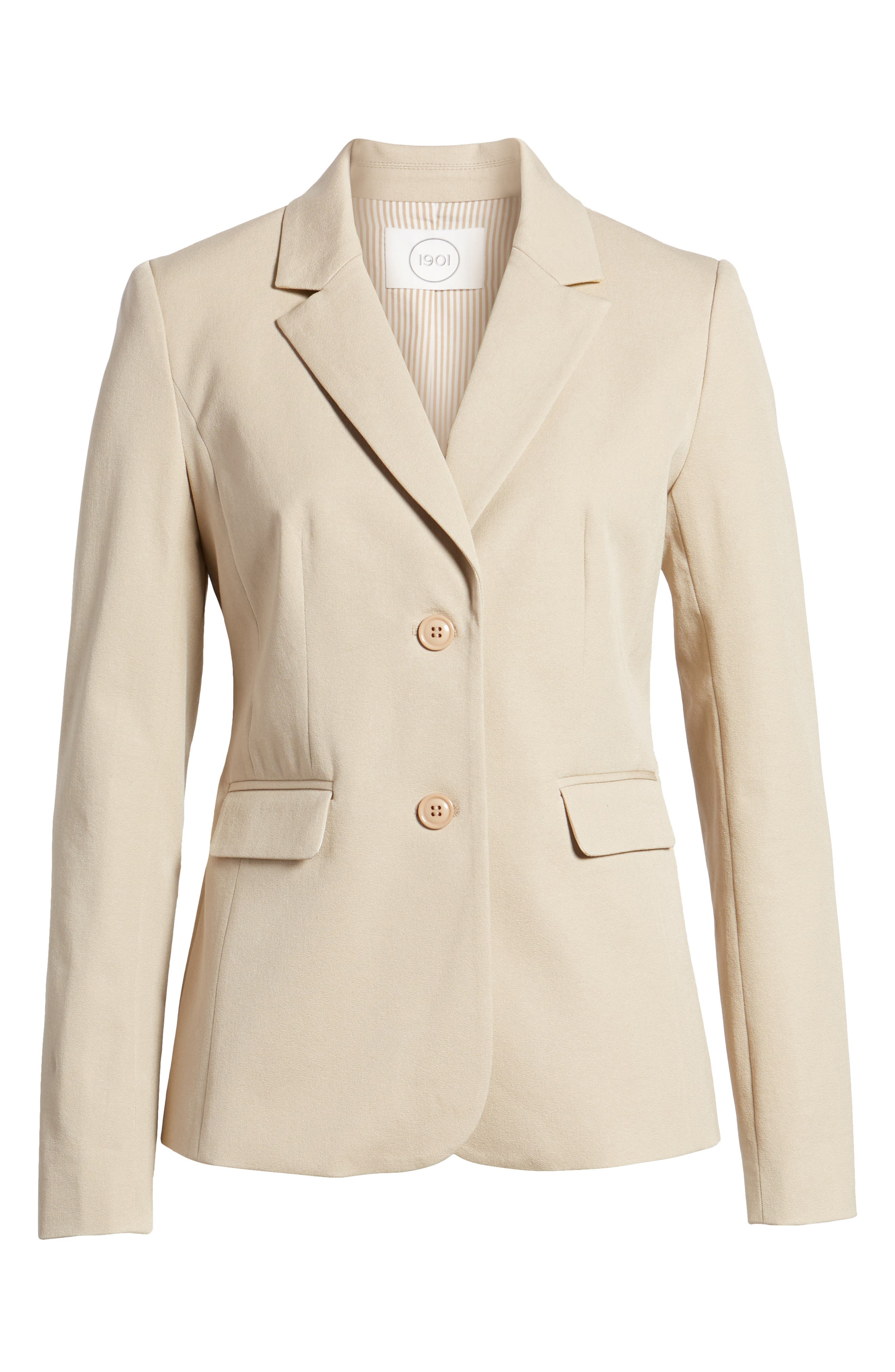 Stretch Cotton Twill Blazer,                             Alternate thumbnail 20, color,
