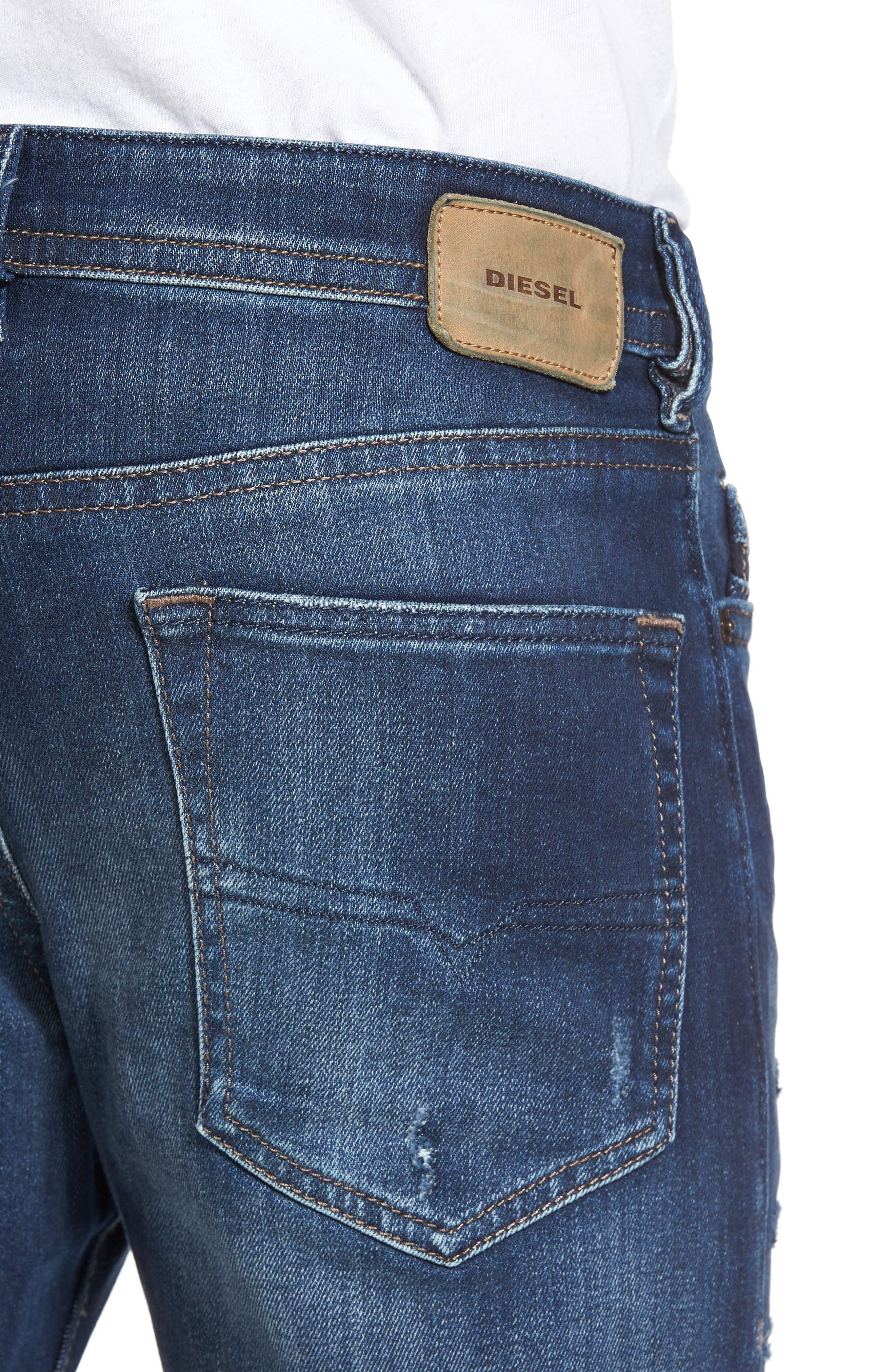Buster Slim Straight Leg Jeans,                             Alternate thumbnail 4, color,                             900