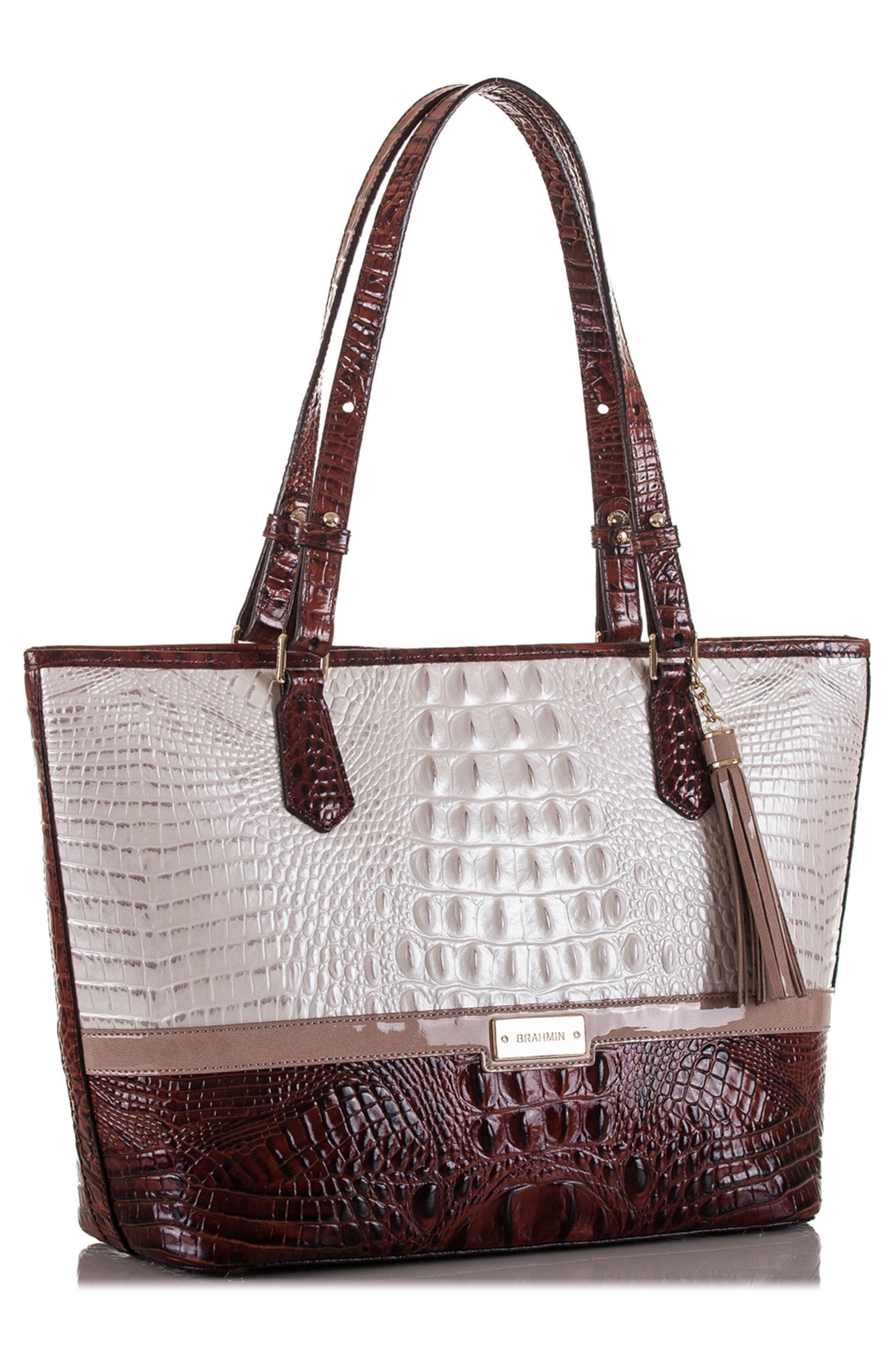Medium Durance - Asher Croc Embossed Leather Tote,                             Alternate thumbnail 4, color,