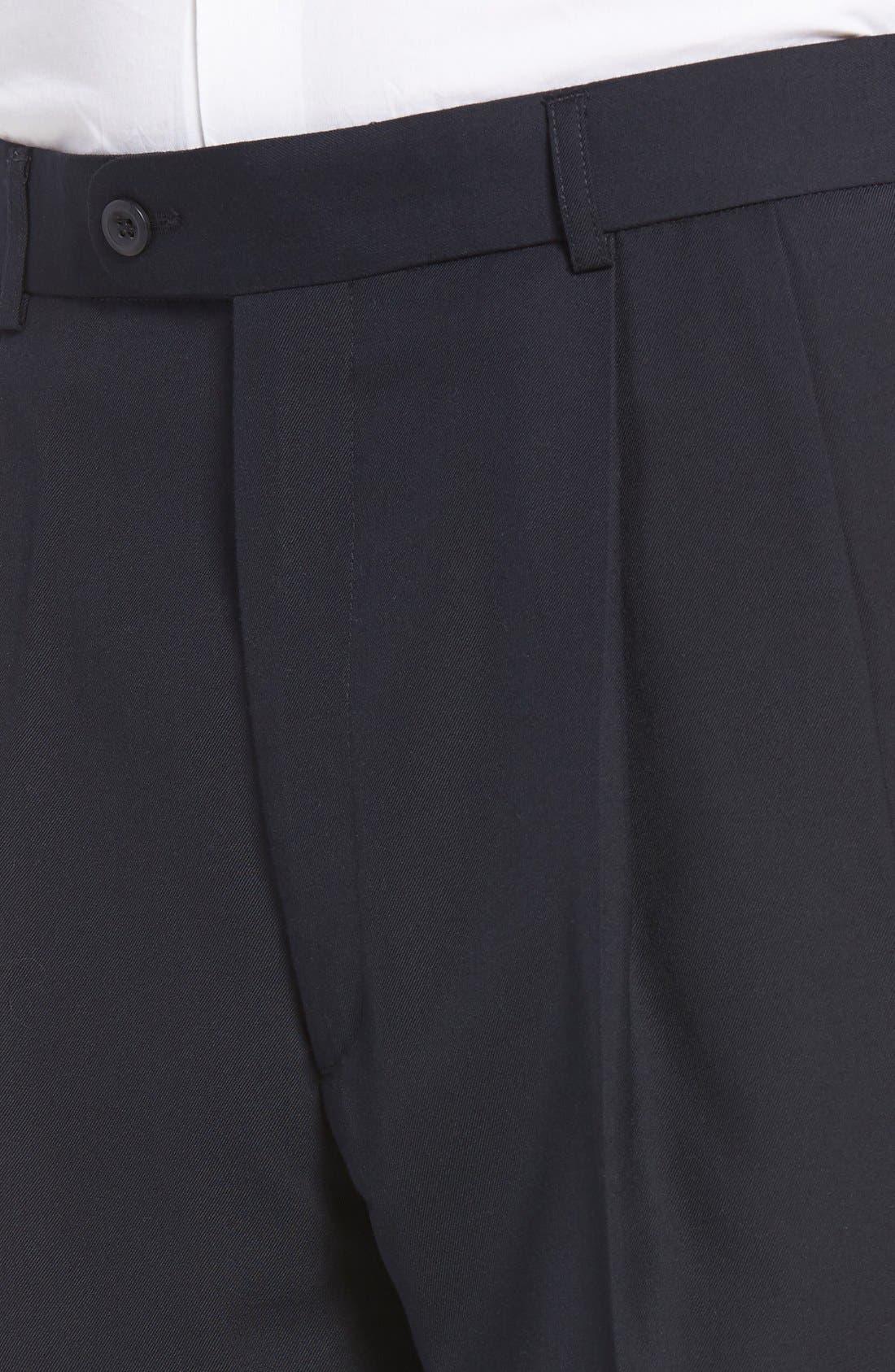 Pleated Microfiber Dress Pants,                             Alternate thumbnail 22, color,