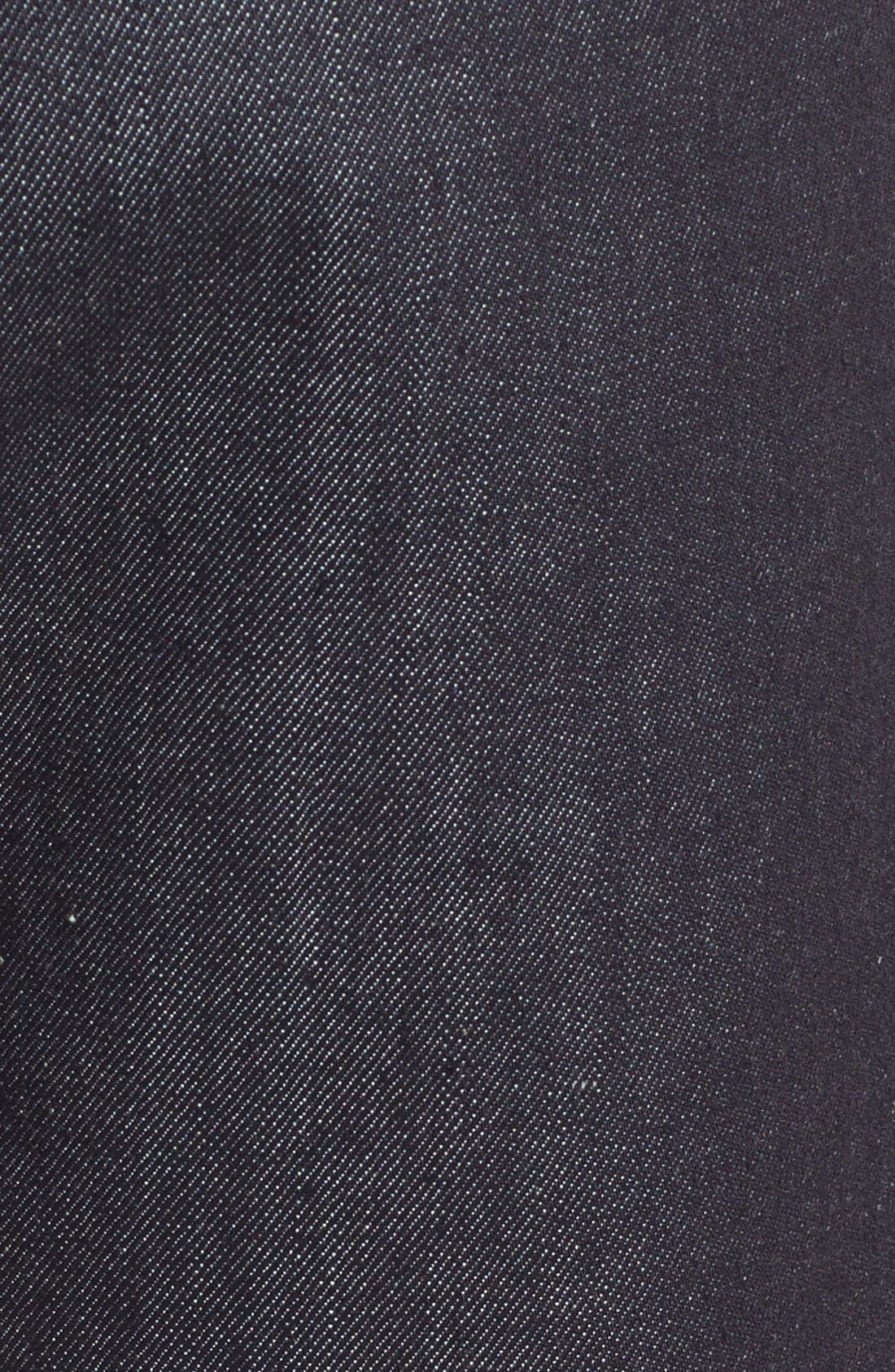 'Brute Knut' Slouchy Slim Fit Selvedge Jeans,                             Alternate thumbnail 5, color,                             411