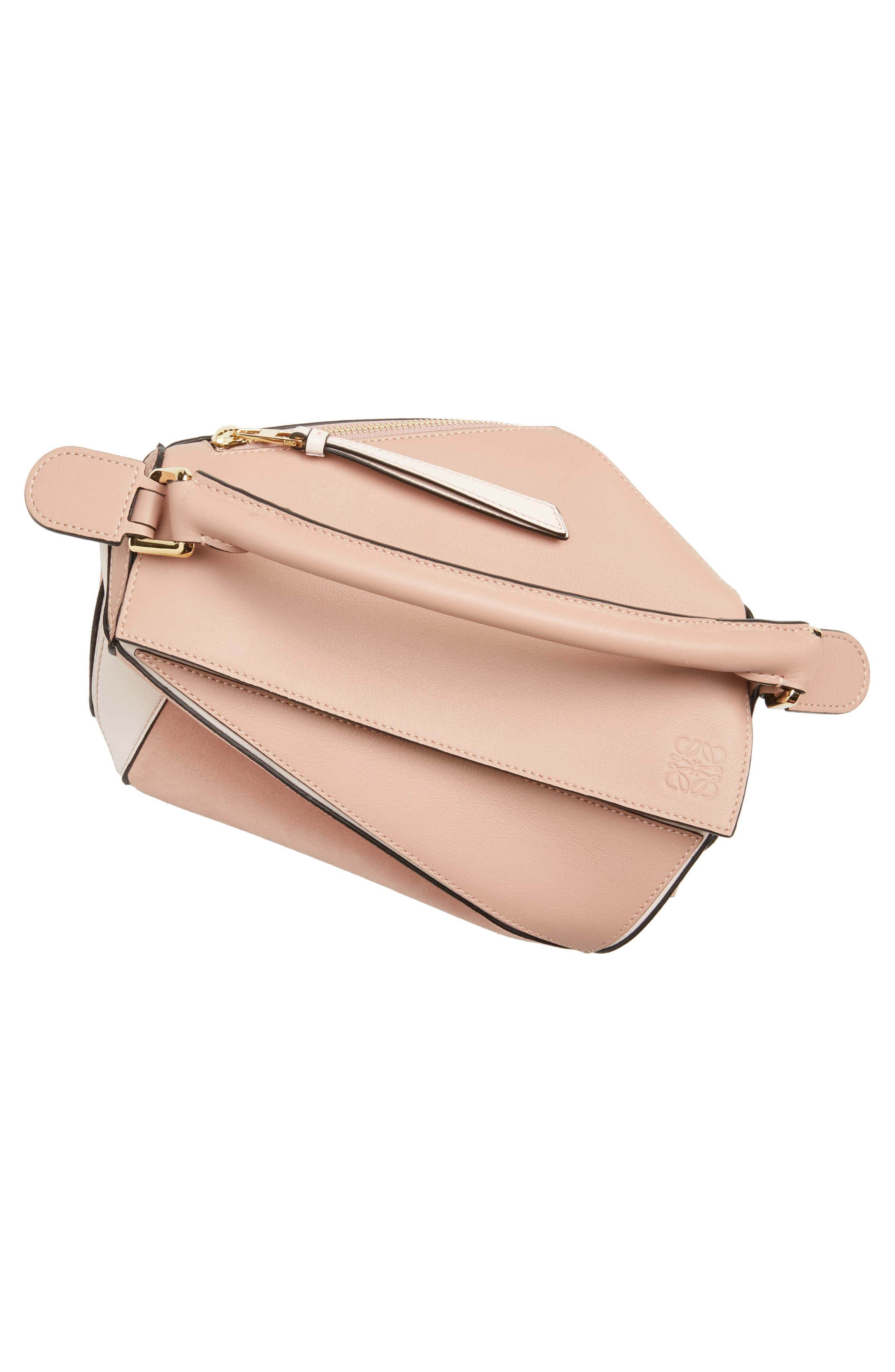 Small Puzzle Bicolor Leather Bag,                             Alternate thumbnail 7, color,                             BLUSH MULTITONE