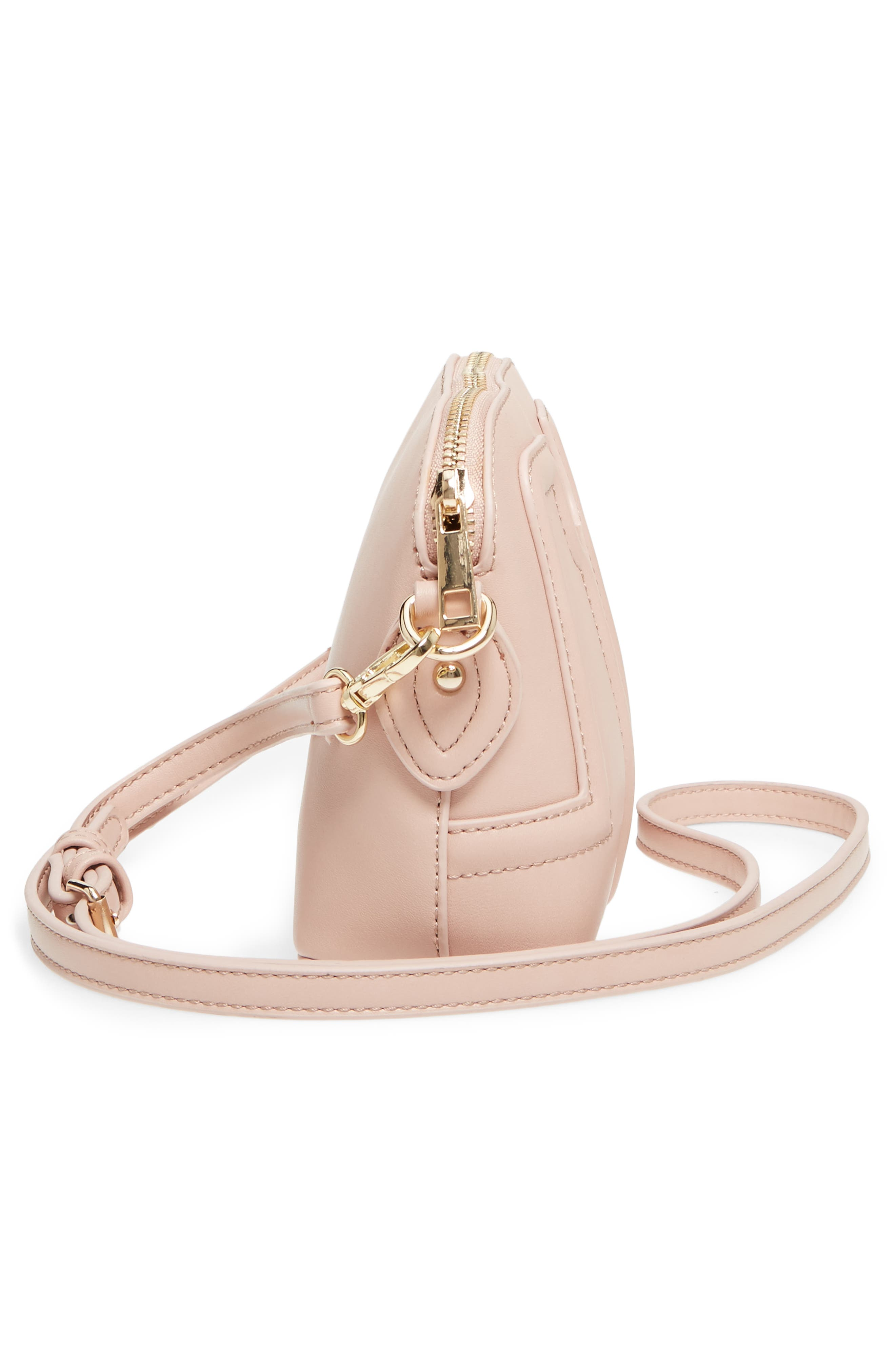 Structured Faux Leather Dome Crossbody,                             Alternate thumbnail 18, color,