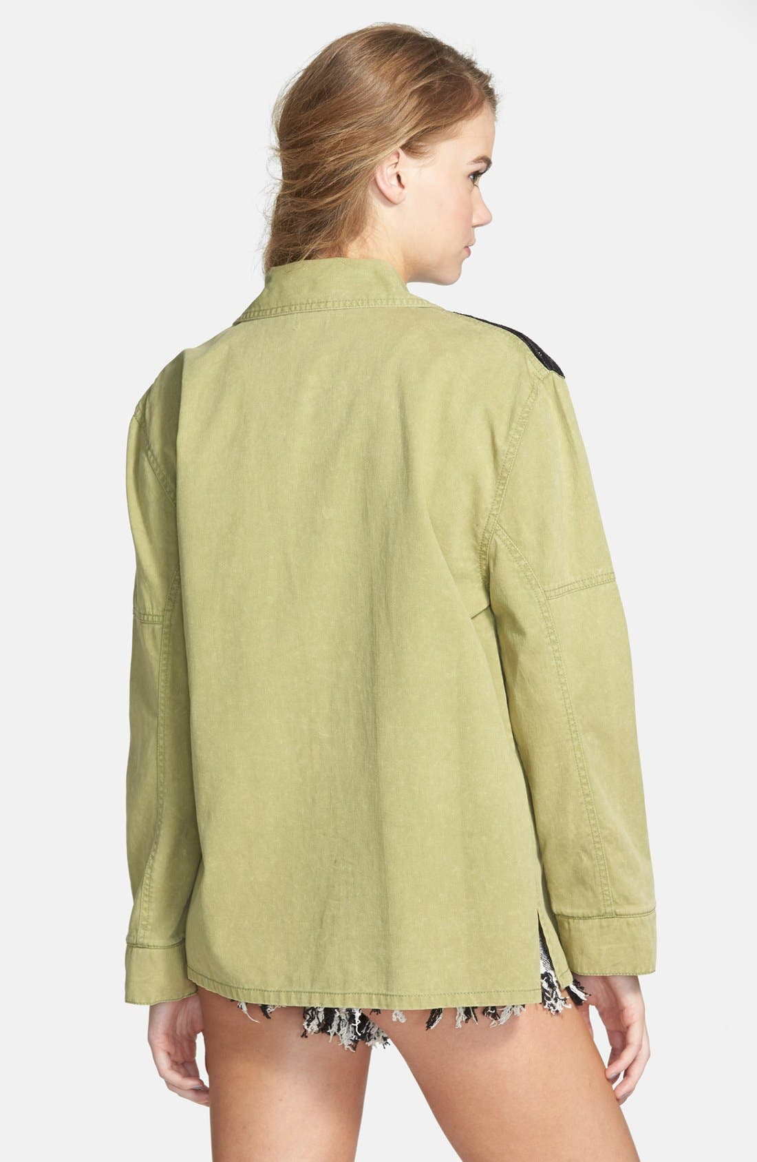'Marooned' High Waist Woven Shorts,                             Alternate thumbnail 2, color,                             900