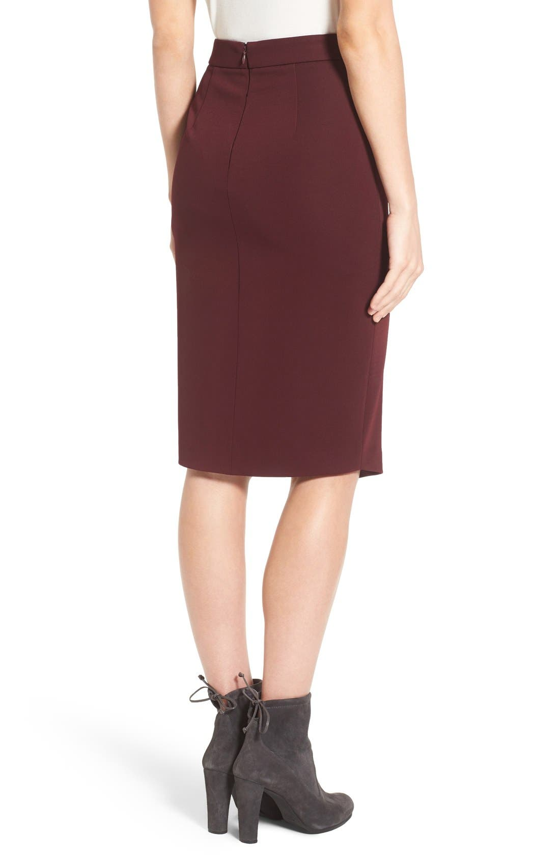 Asymmetrical Zip Pencil Skirt,                             Alternate thumbnail 12, color,
