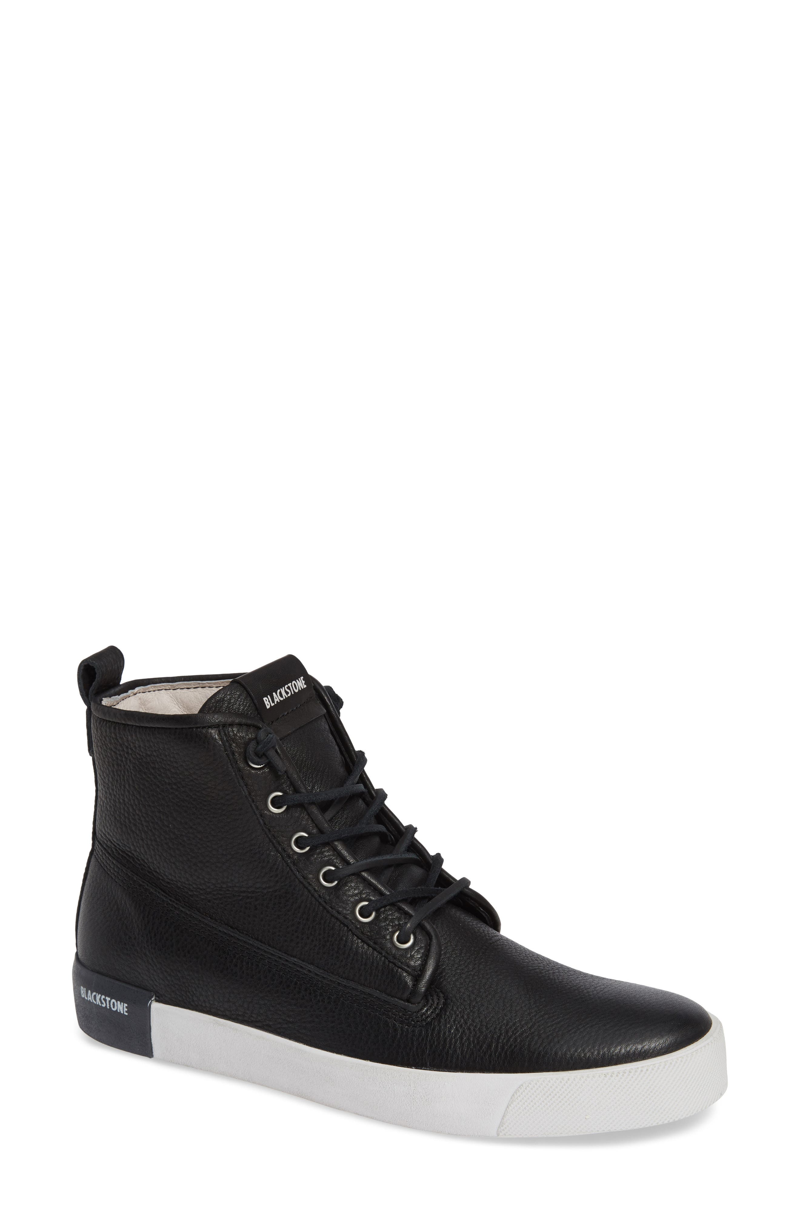 QM80 High Top Sneaker,                             Main thumbnail 1, color,                             BLACK