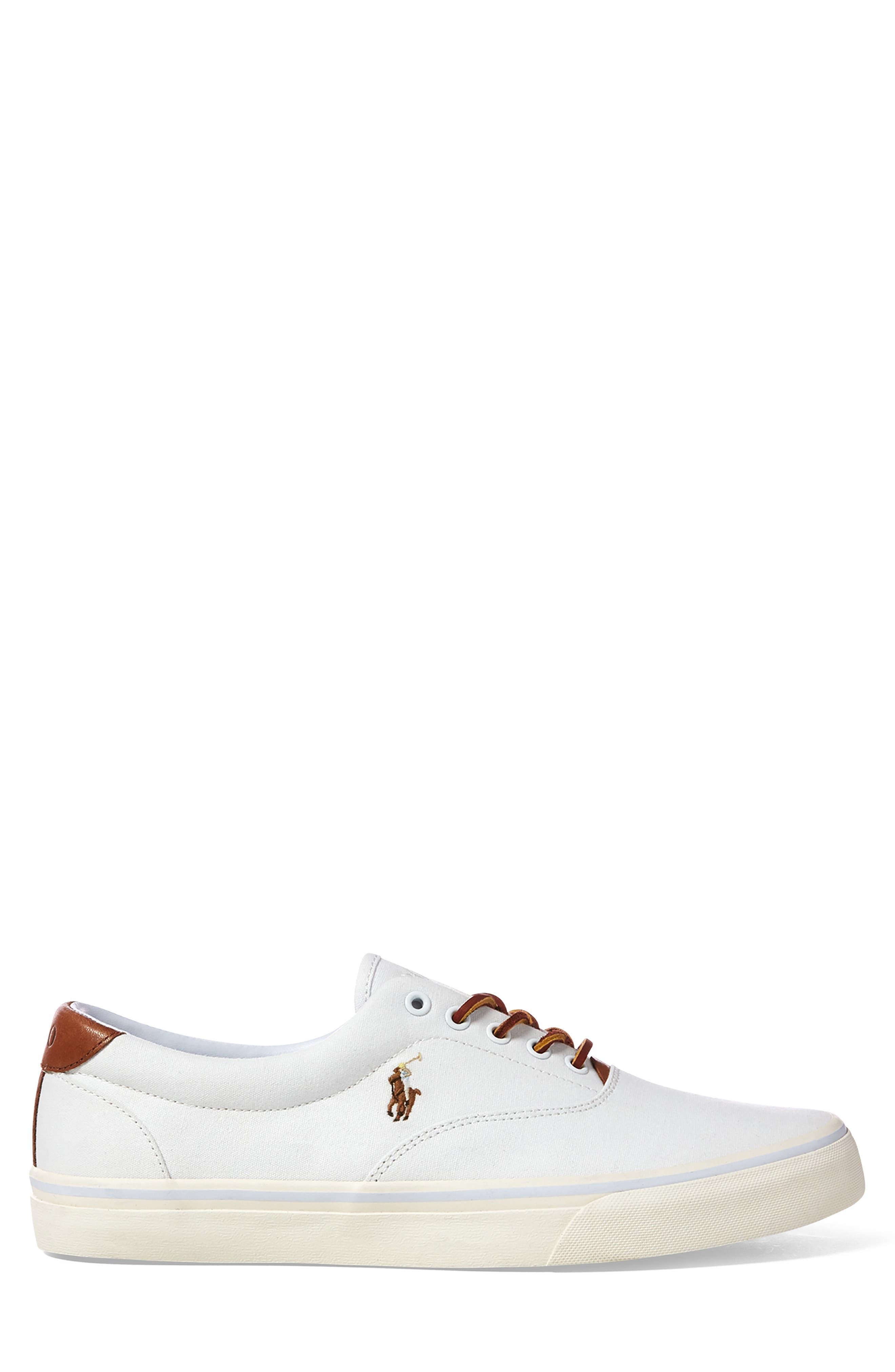 POLO RALPH LAUREN,                             Thorton Low Top Sneaker,                             Alternate thumbnail 2, color,                             WHITE CANVAS