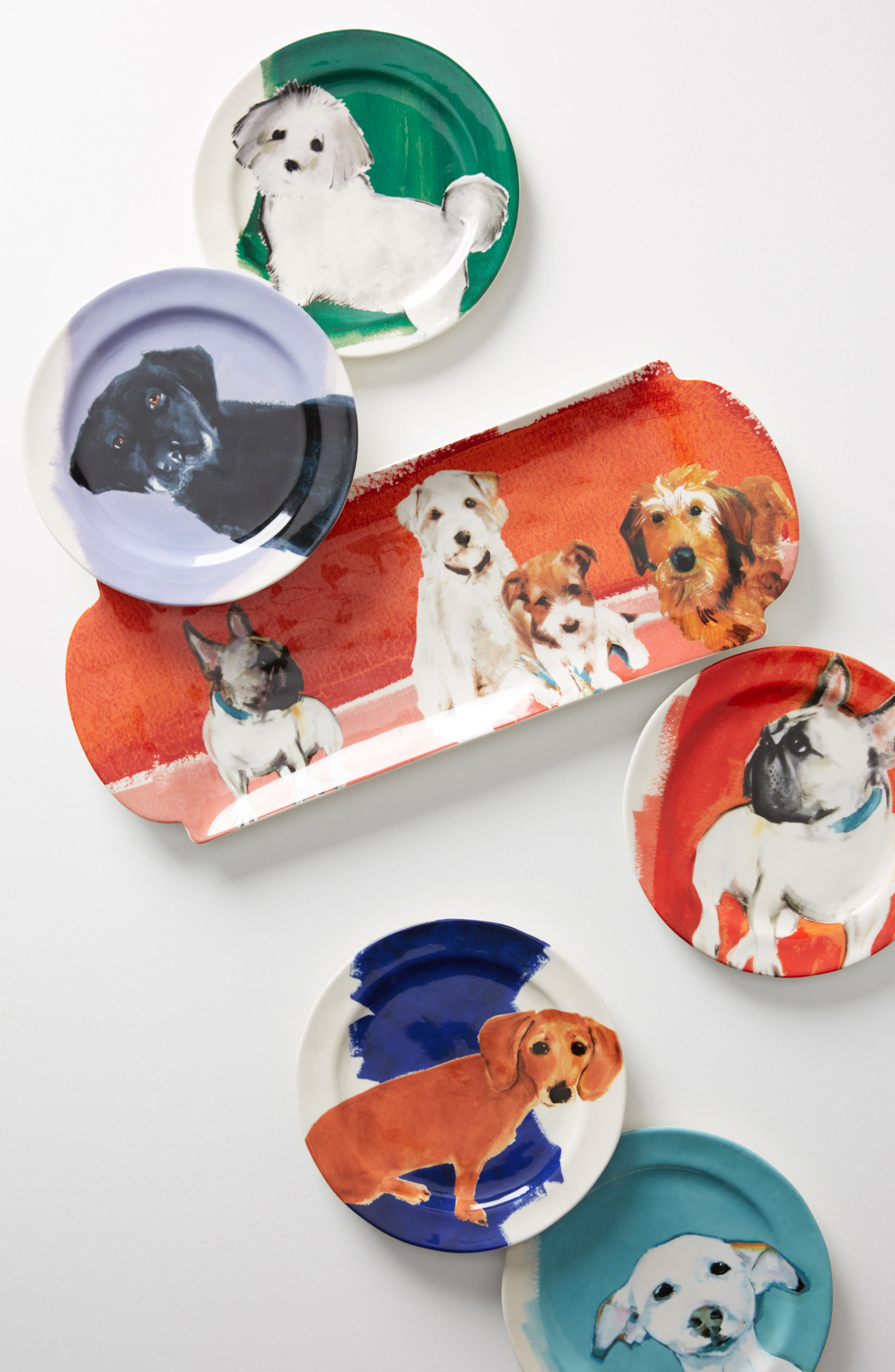 Dog-a-Day Stoneware Dessert Plate,                             Alternate thumbnail 2, color,                             300