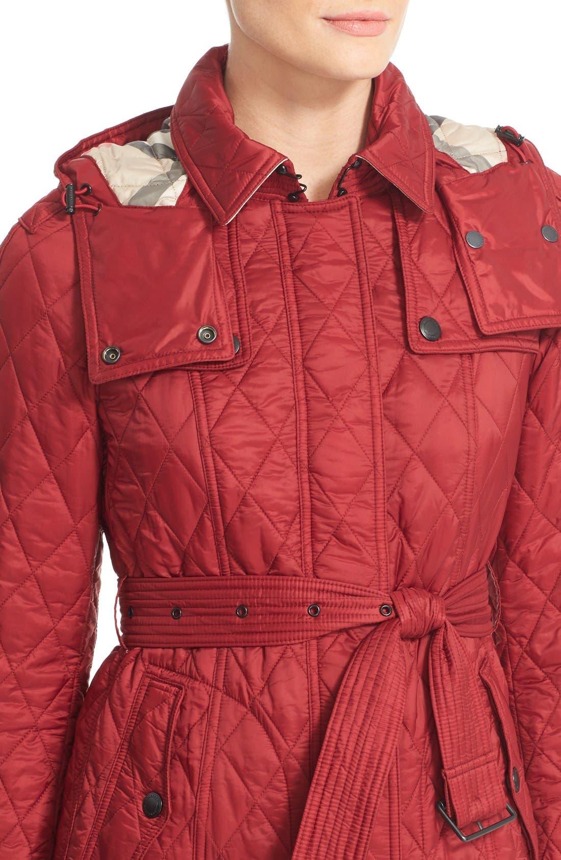 Finsbridge ShortQuilted Jacket,                             Alternate thumbnail 6, color,