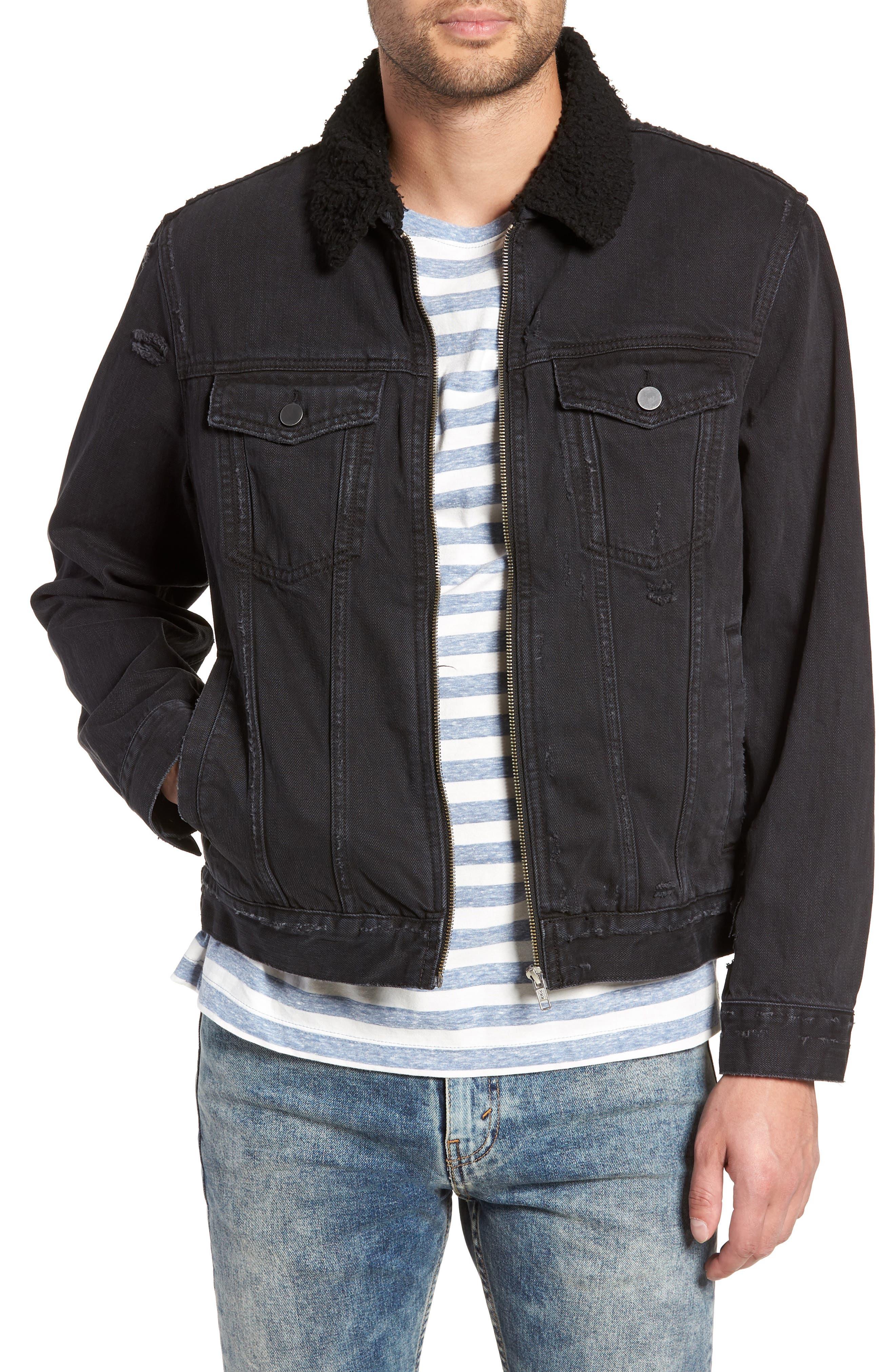 The Rail Fleece Lined Denim Jacket, Black