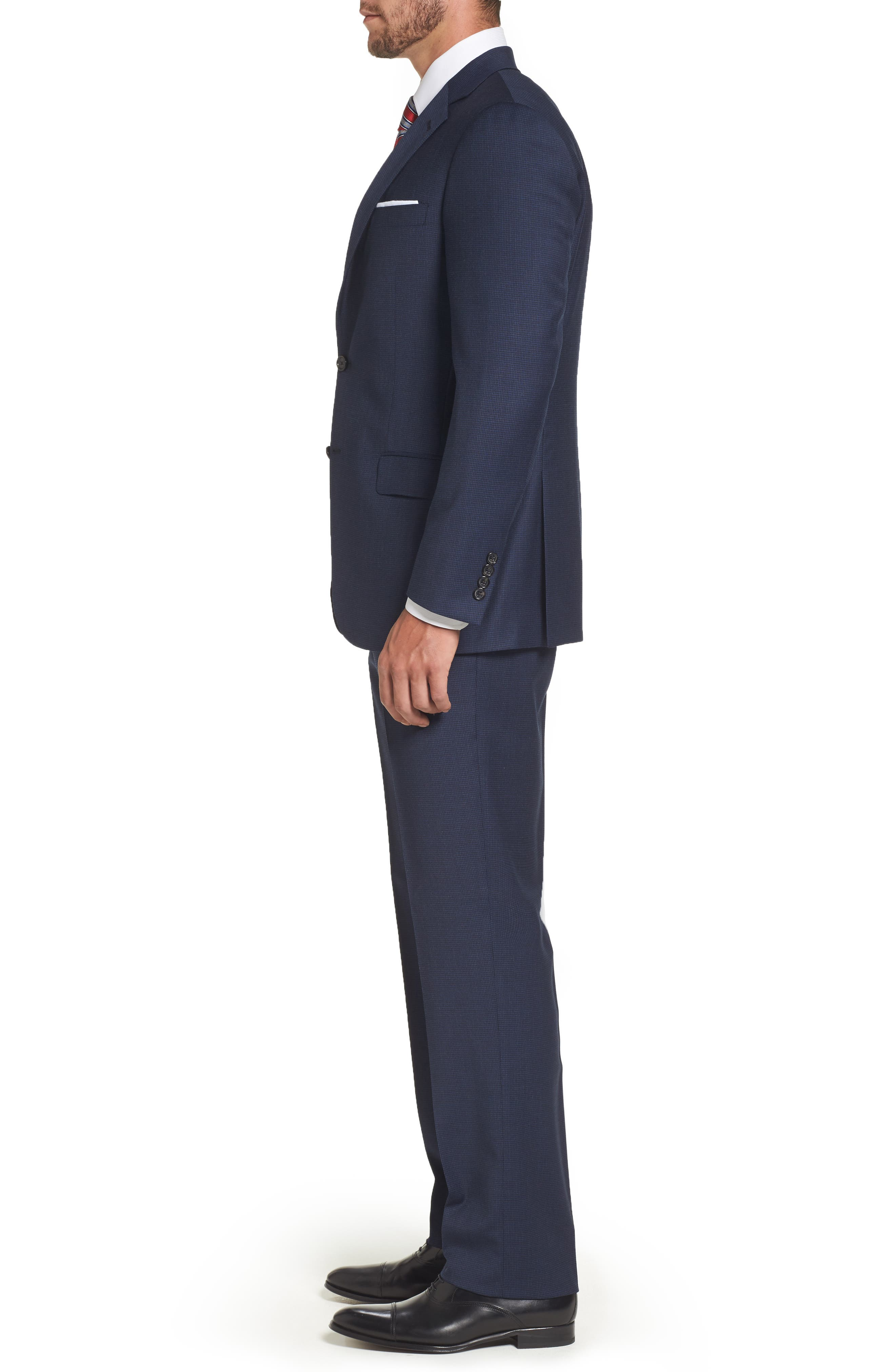 Classic Fit Check Stretch Wool Suit,                             Alternate thumbnail 3, color,                             401