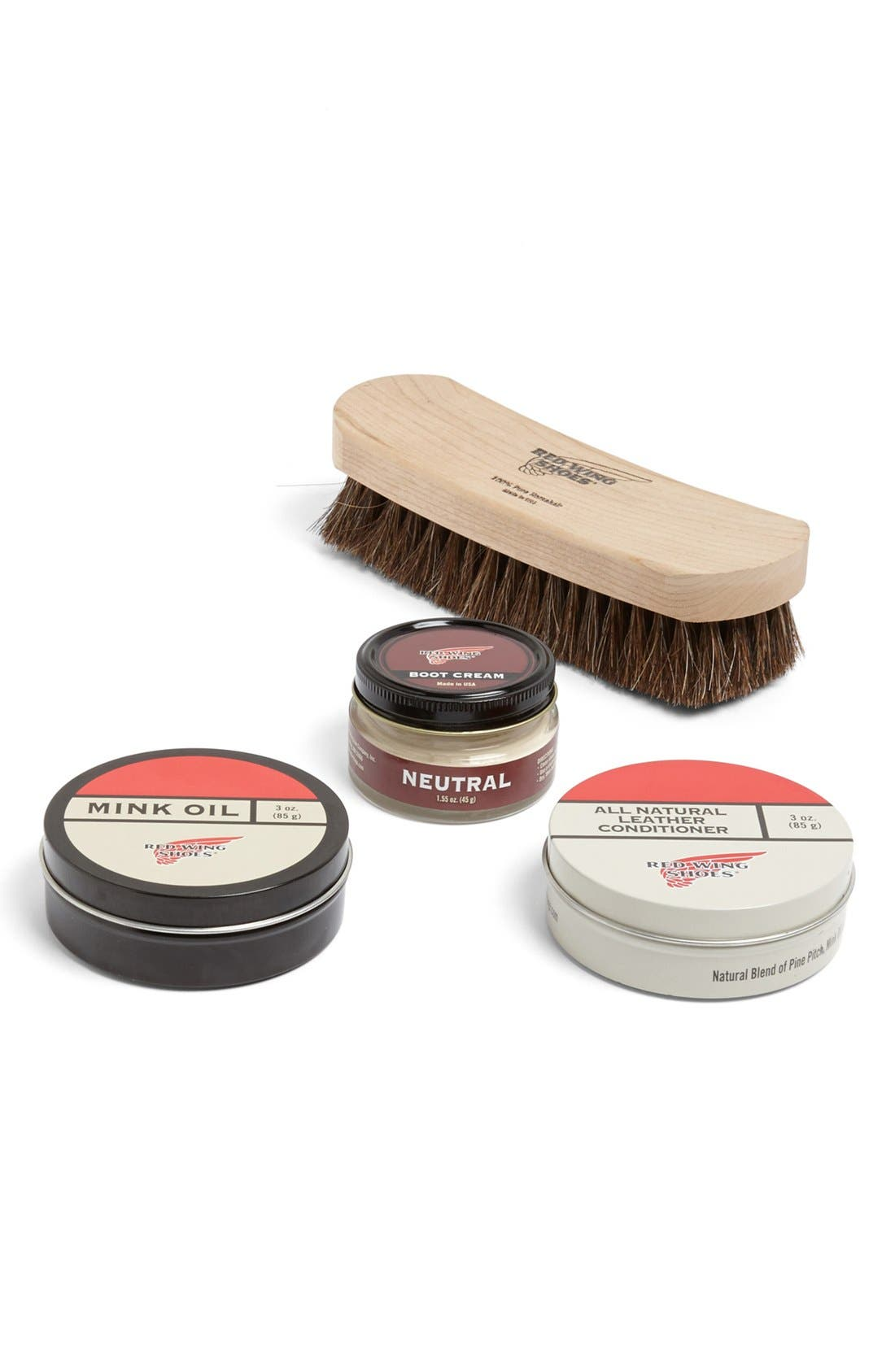 RED WING Leather Shoe Care Set, Main, color, NONE