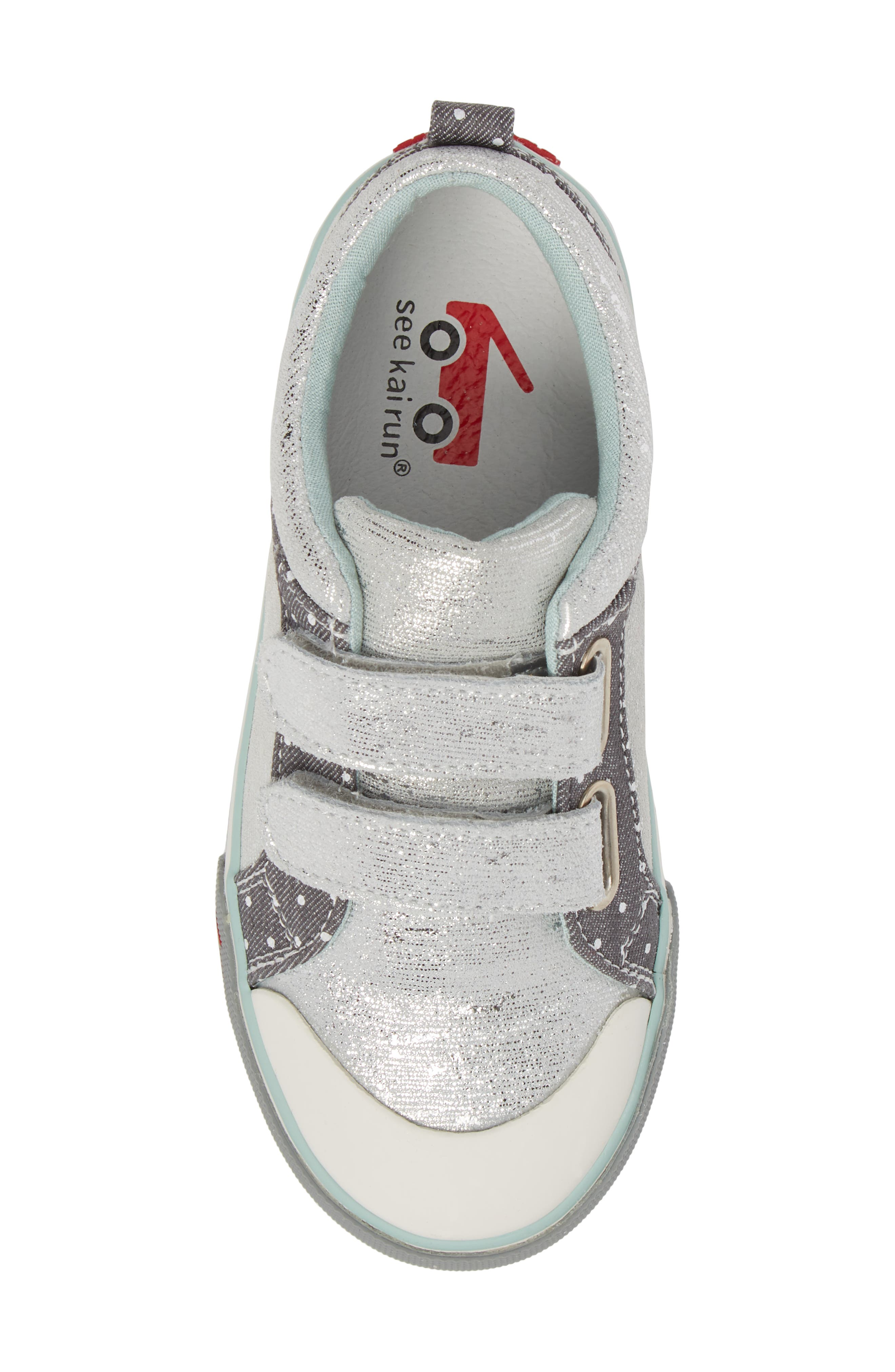 Robyne Sneaker,                             Alternate thumbnail 5, color,                             SILVER LEATHER