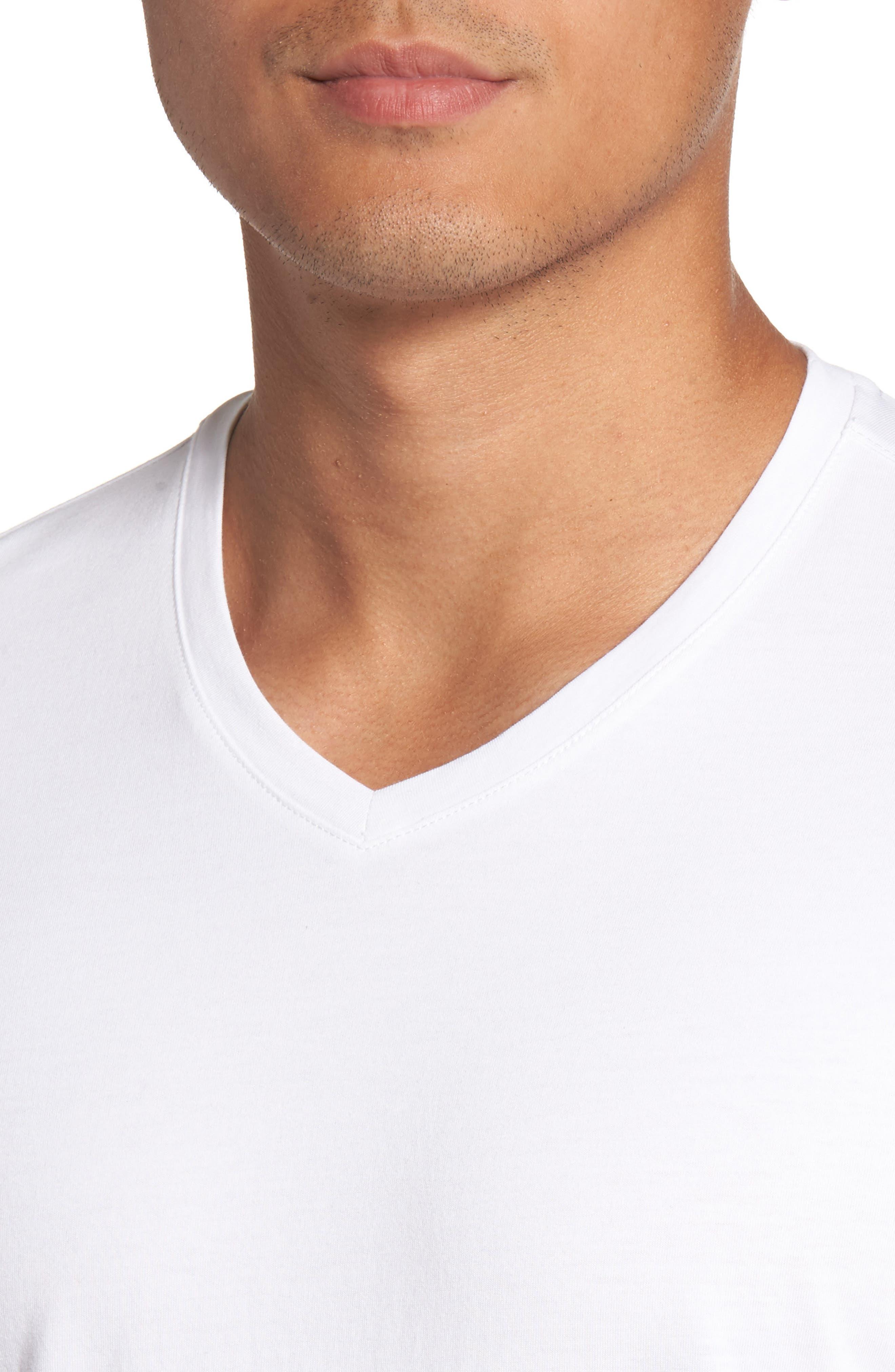 Mercer V-Neck T-Shirt,                             Alternate thumbnail 4, color,                             WHITE