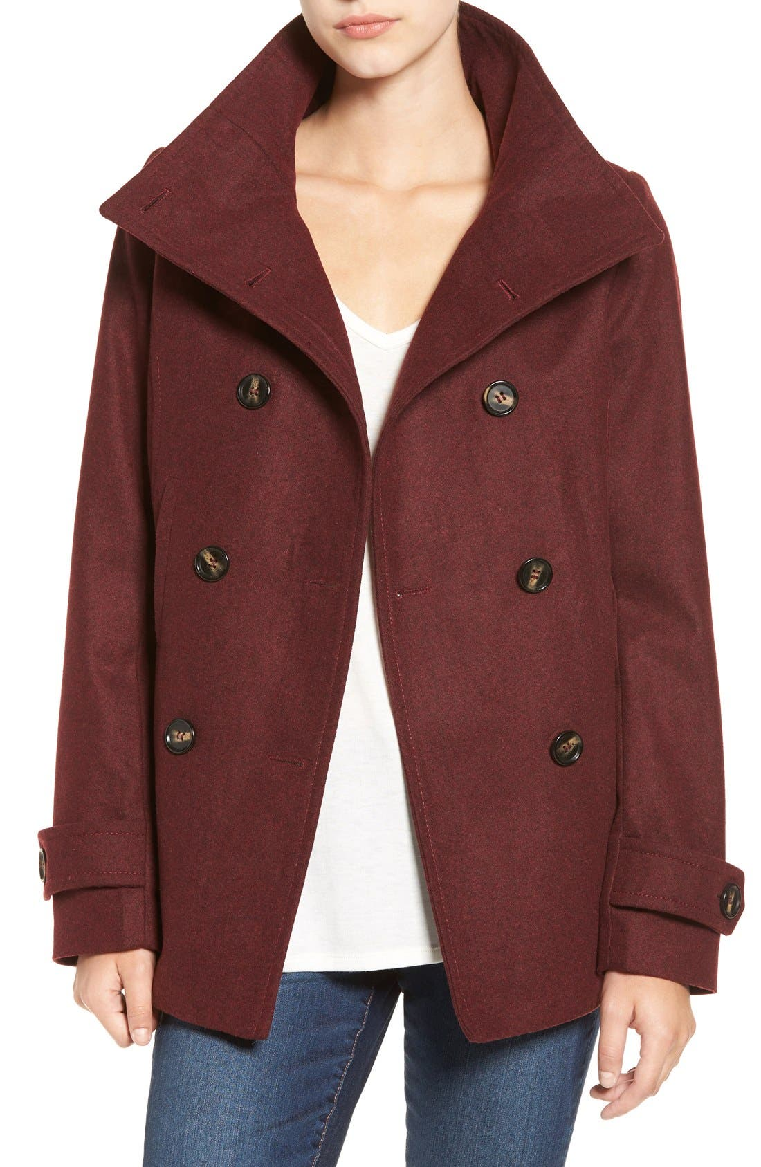 Double Breasted Peacoat,                             Main thumbnail 10, color,