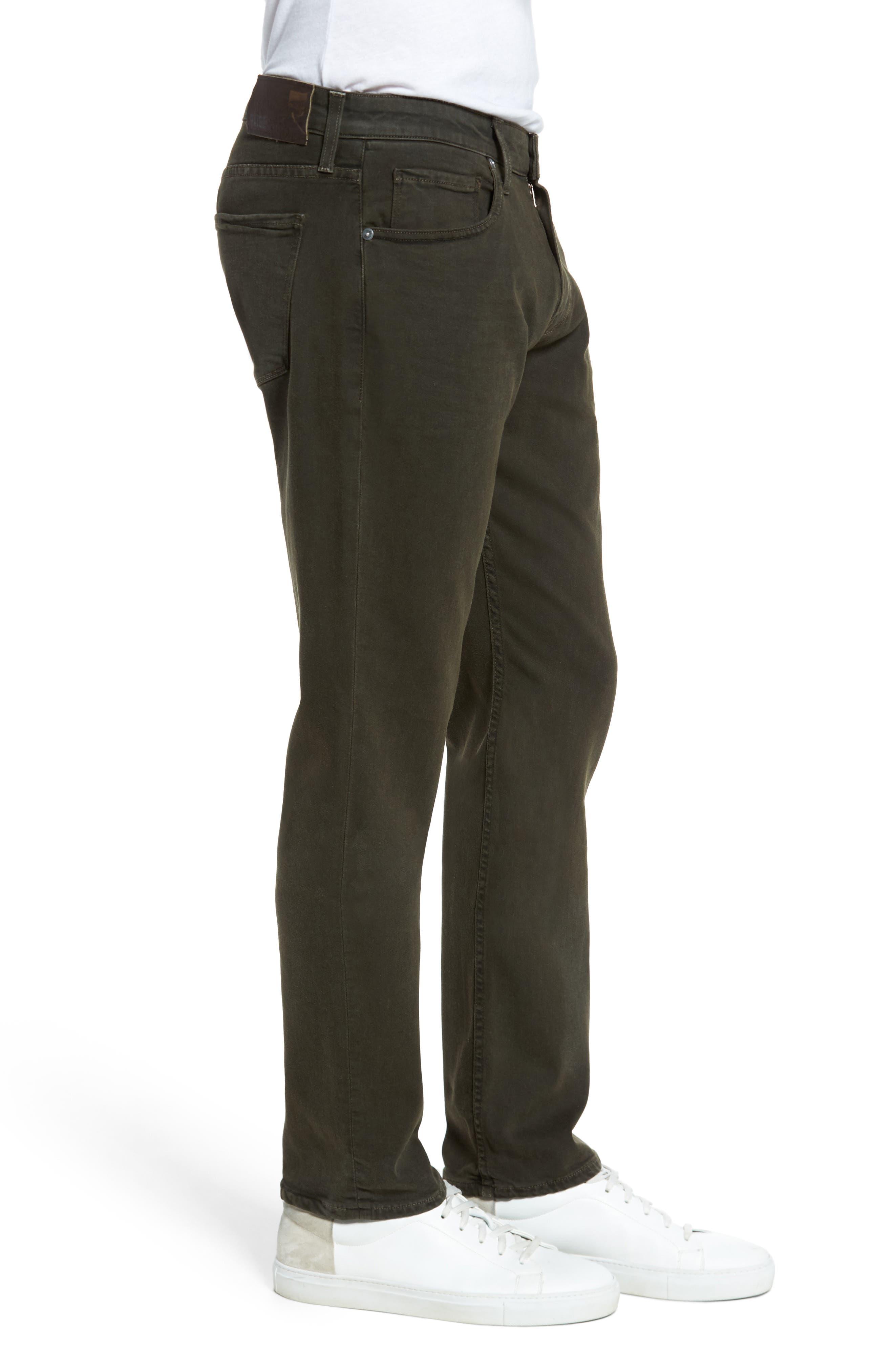 Transcend - Federal Slim Straight Leg Jeans,                             Alternate thumbnail 3, color,                             001