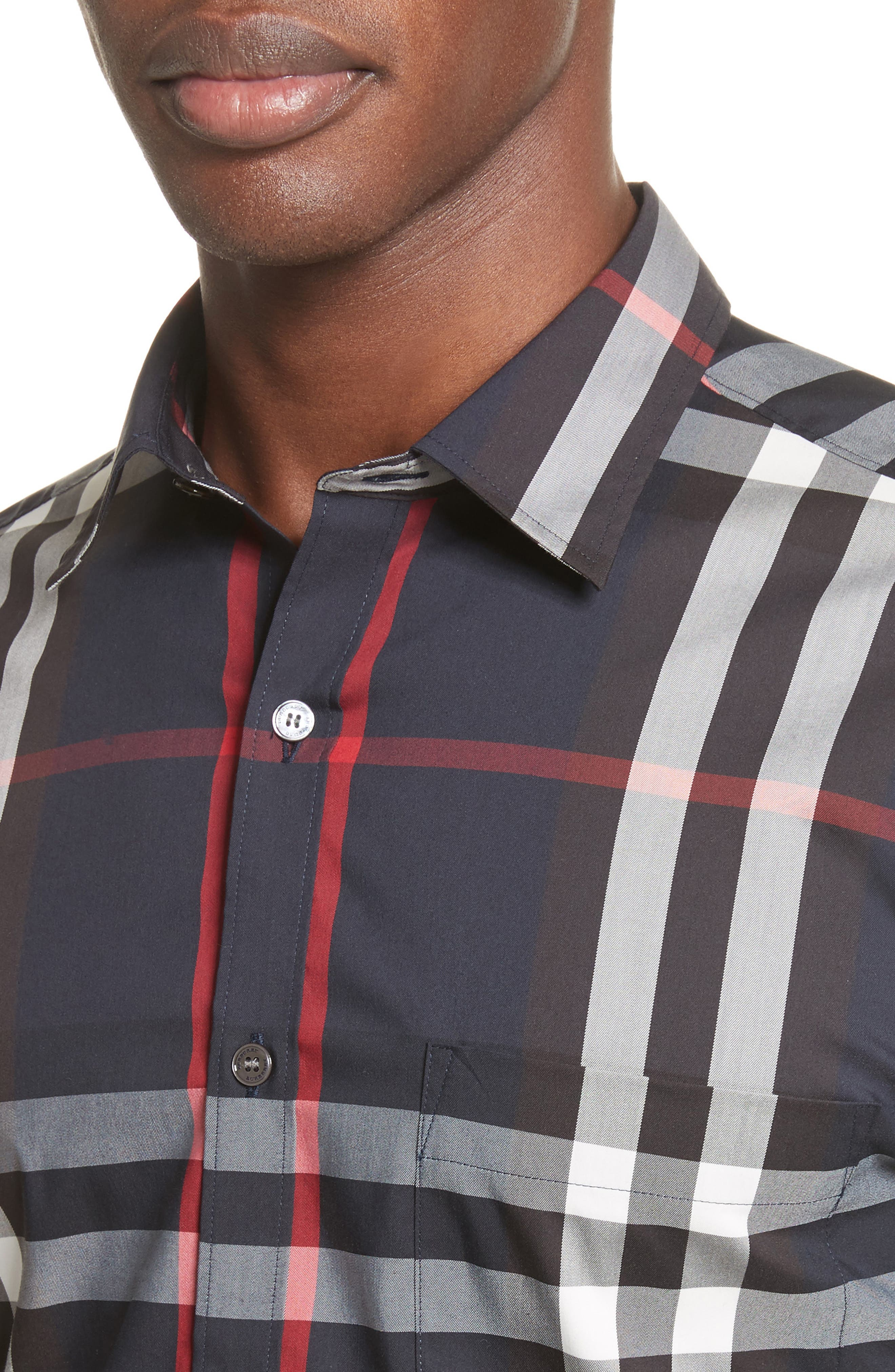 Nelson Check Sport Shirt,                             Alternate thumbnail 105, color,