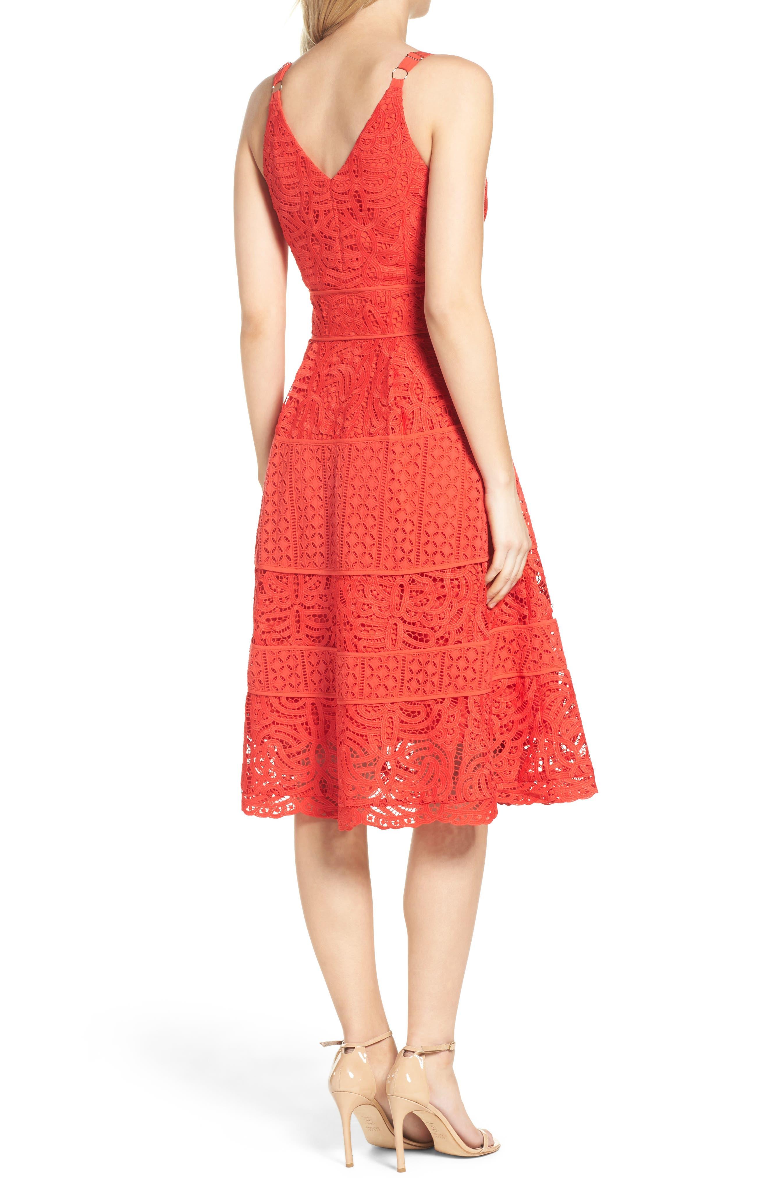 Fit & Flare Midi Dress,                             Alternate thumbnail 8, color,