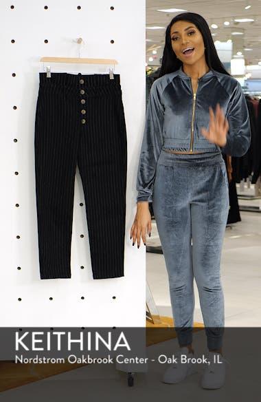 Montella Pinstripe Crop Skinny Pants, sales video thumbnail