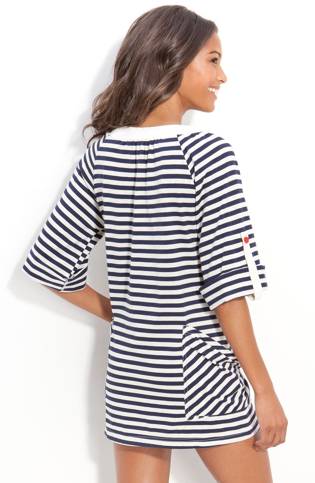 'Riviera Stripe' Tunic Cover-Up,                             Alternate thumbnail 2, color,                             410